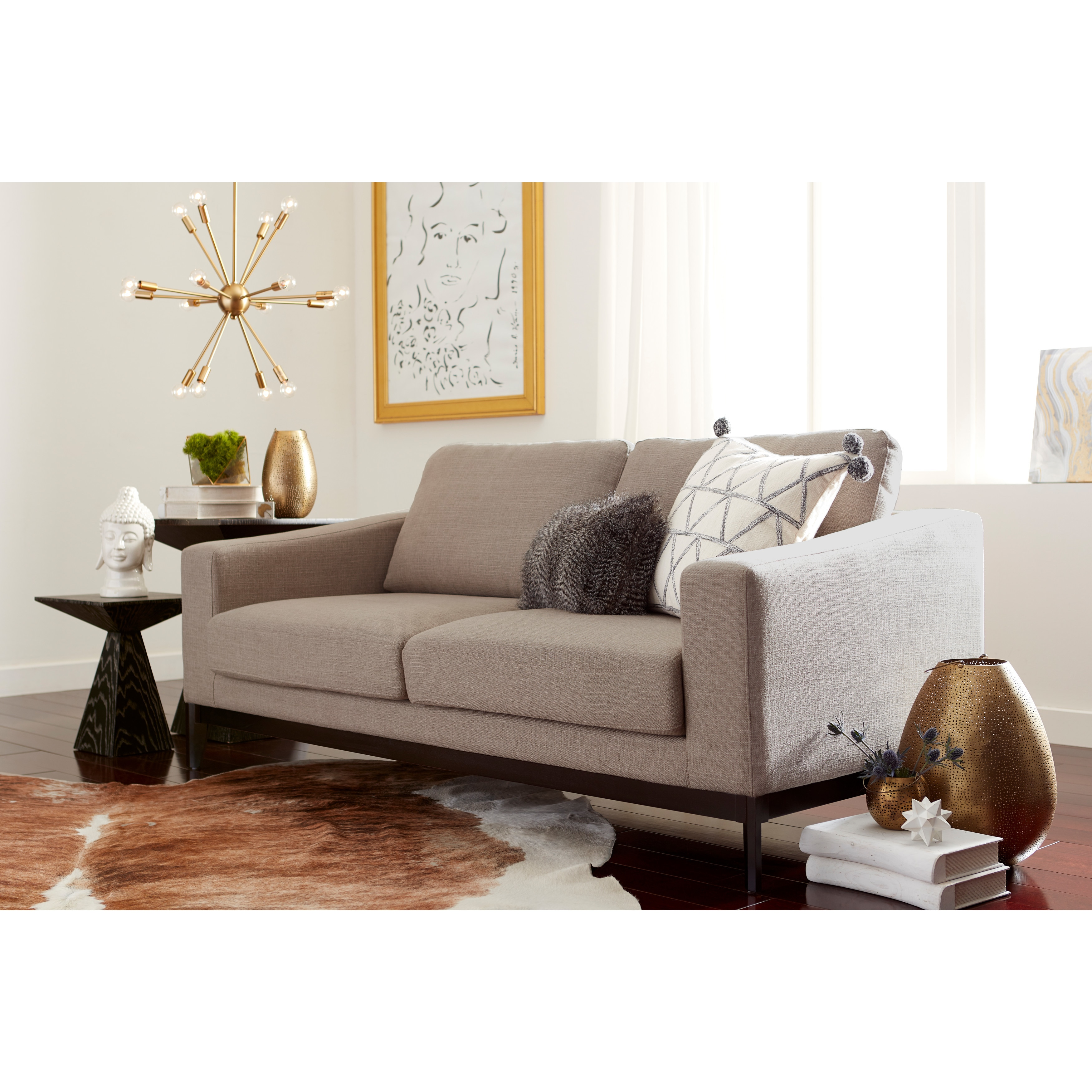 Beau Shop Elle Decor Olivia French Linen Sofa   Free Shipping Today    Overstock.com   18228016