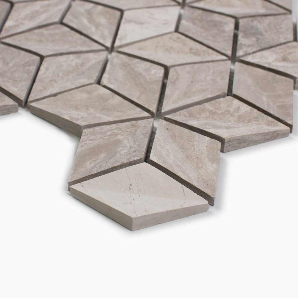 Maykke warren 10 pieces mosaic wall and floor tile white wooden maykke warren 10 pieces mosaic wall and floor tile white wooden marble free shipping today overstock 24368758 dailygadgetfo Choice Image