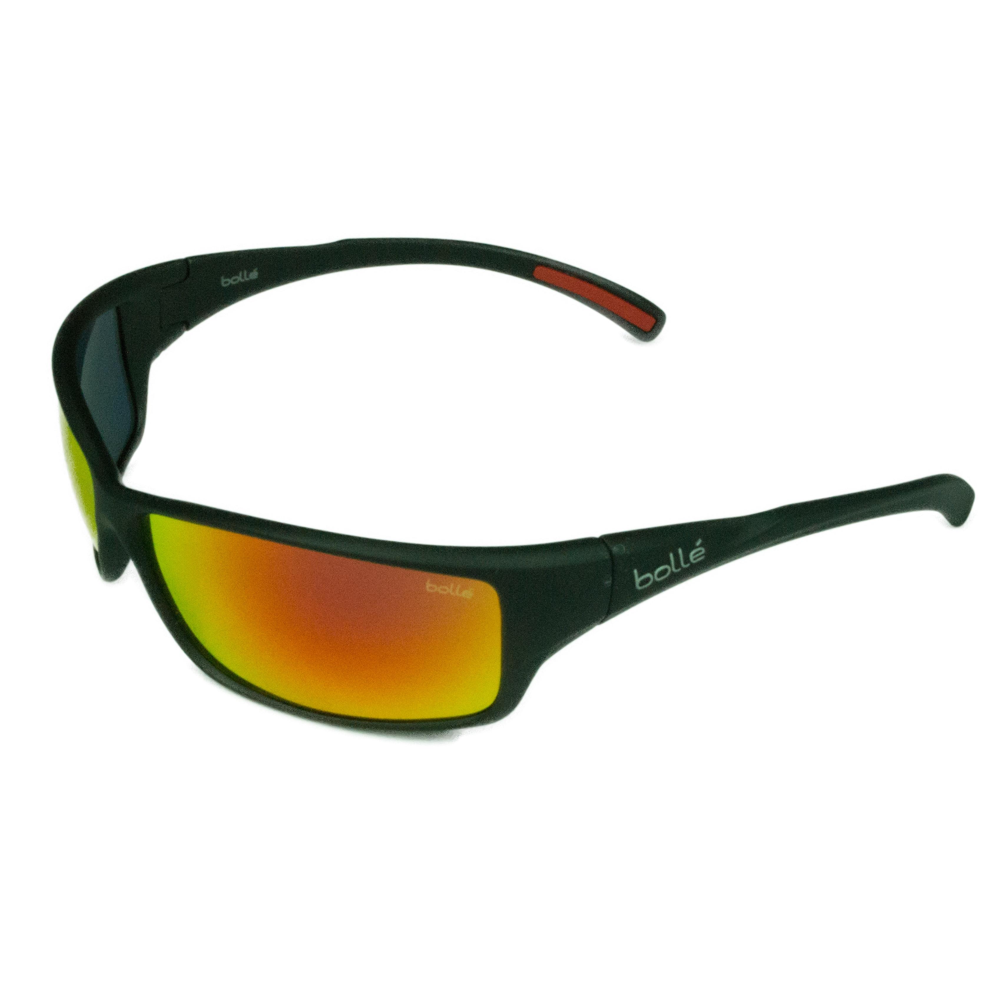 e8a45eac33 Bolle Sport Mens Slice 12129 Matte Black w  TNS Fire Lens Sunglasses