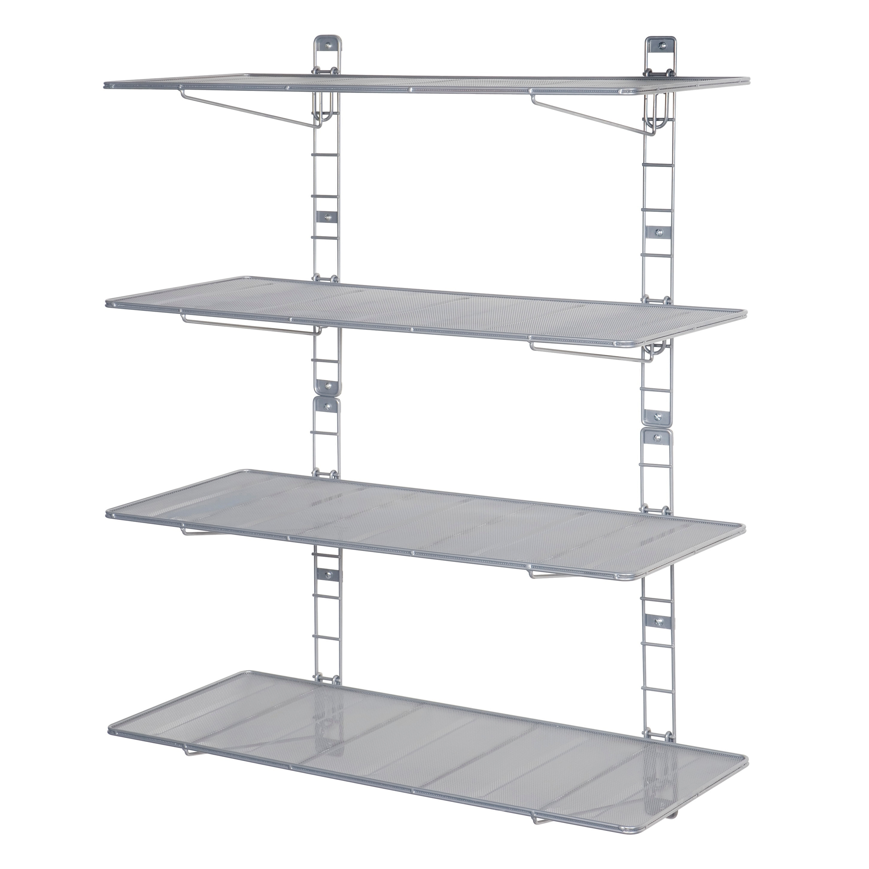 Wire Mesh Shelving | Shop 36 In Steel Mesh Wall Mount Floating Shelves 2 Pieces Free
