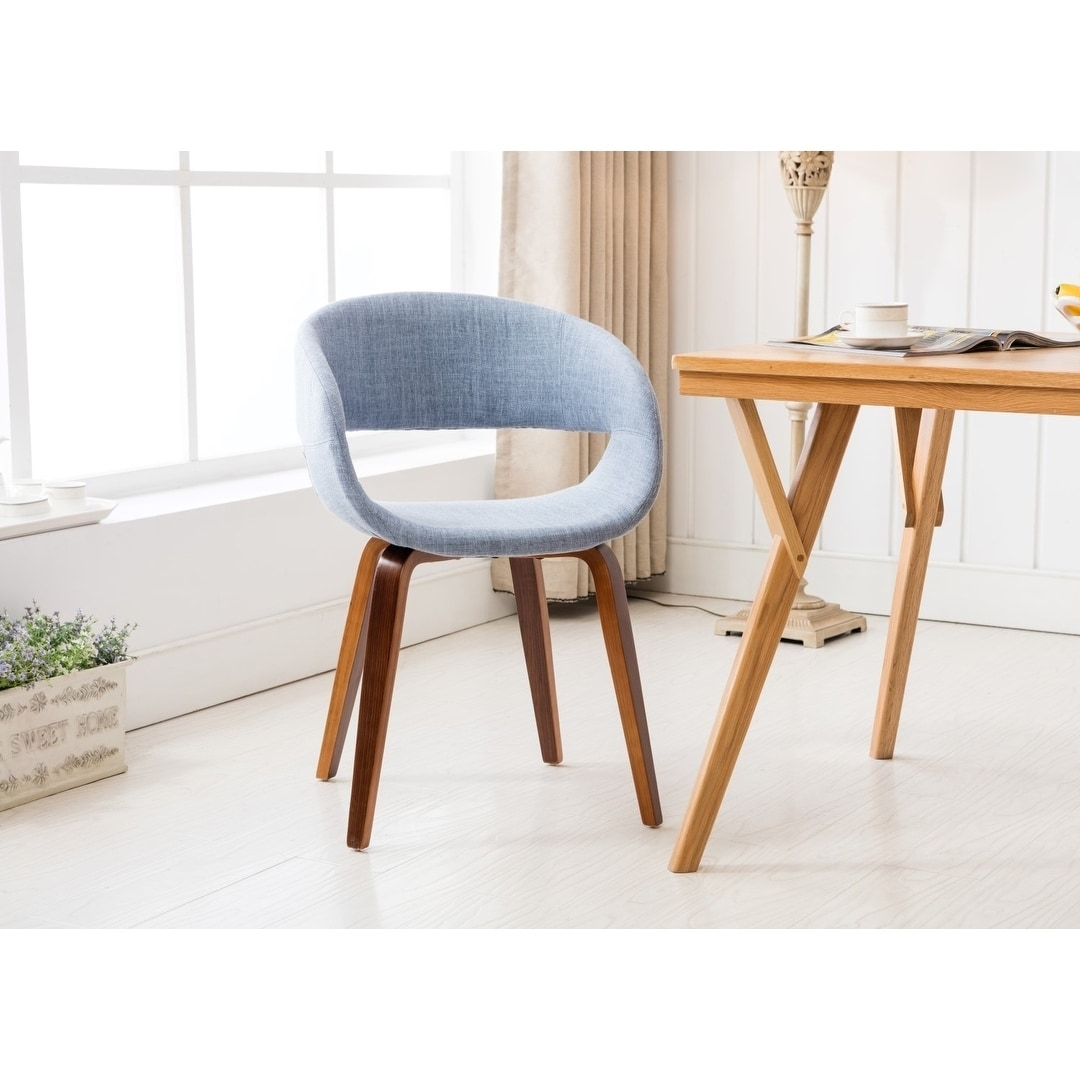 Shop Porthos Homes Mid Century Style Dining Chair With Fabric Upholstery    On Sale   Free Shipping Today   Overstock.com   18235123