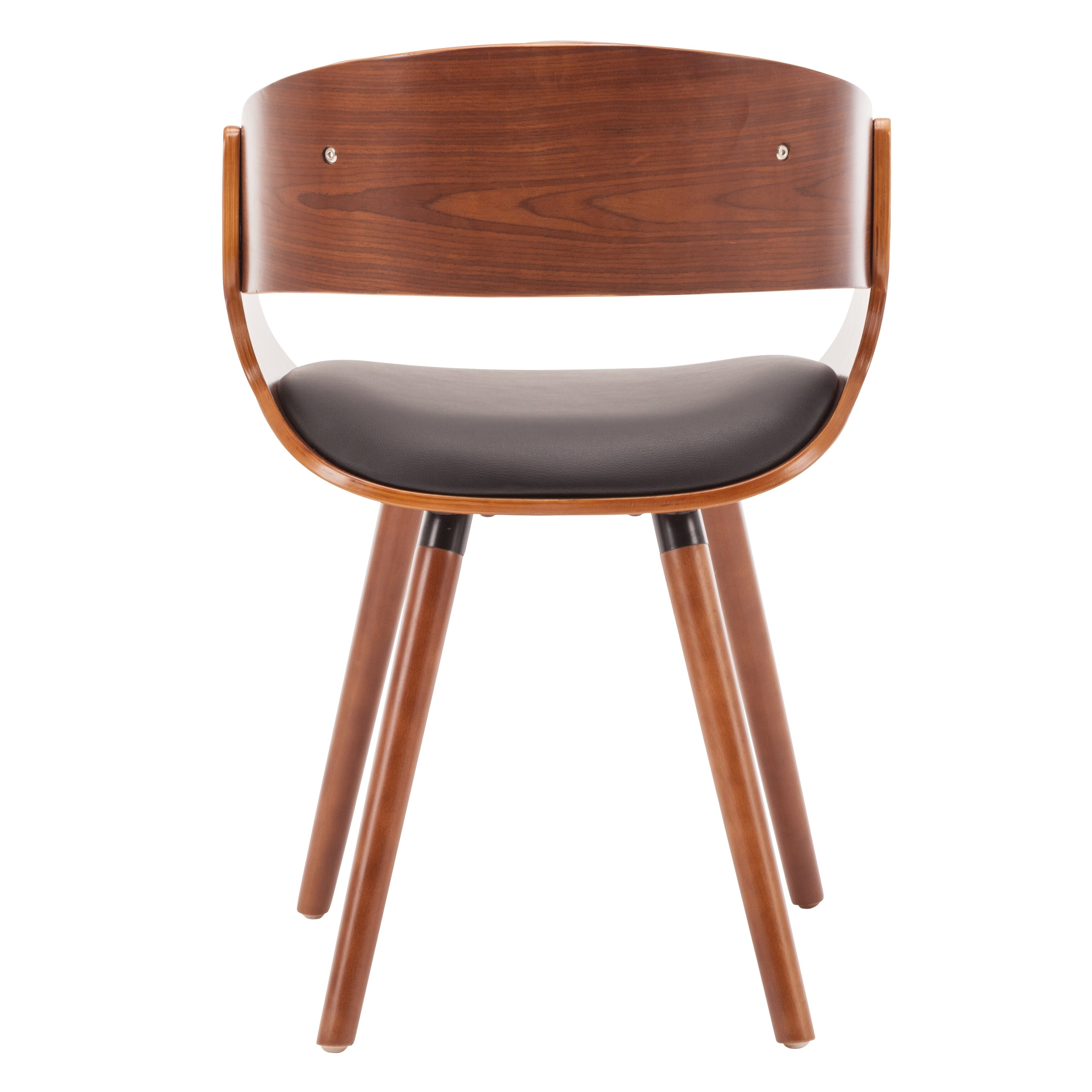 Shop Porthos Homes Dining Chair With PVC Upholstery, Wooden Legs ...