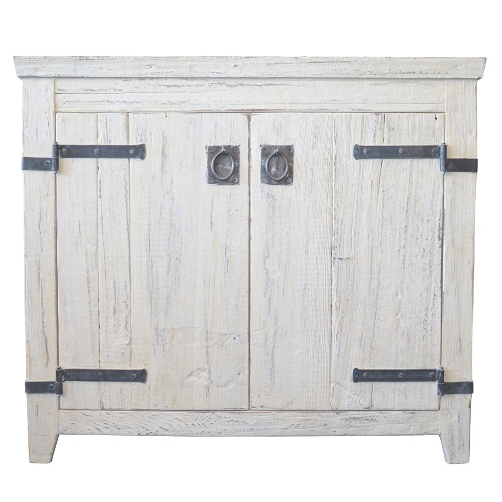 Shop Americana Whitewash 36-inch Reclaimed Wood Bathroom Vanity ...