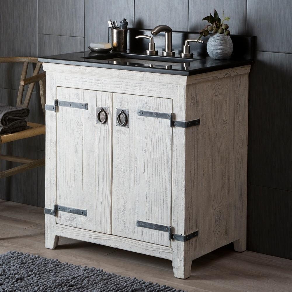 Americana Whitewash 30 Inch Reclaimed Wood Bathroom Vanity Free Shipping Today 18235462