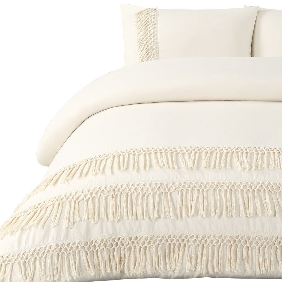 Boho Fringe Organic Cotton Percale Duvet Cover Set On Free Shipping Today 18236481