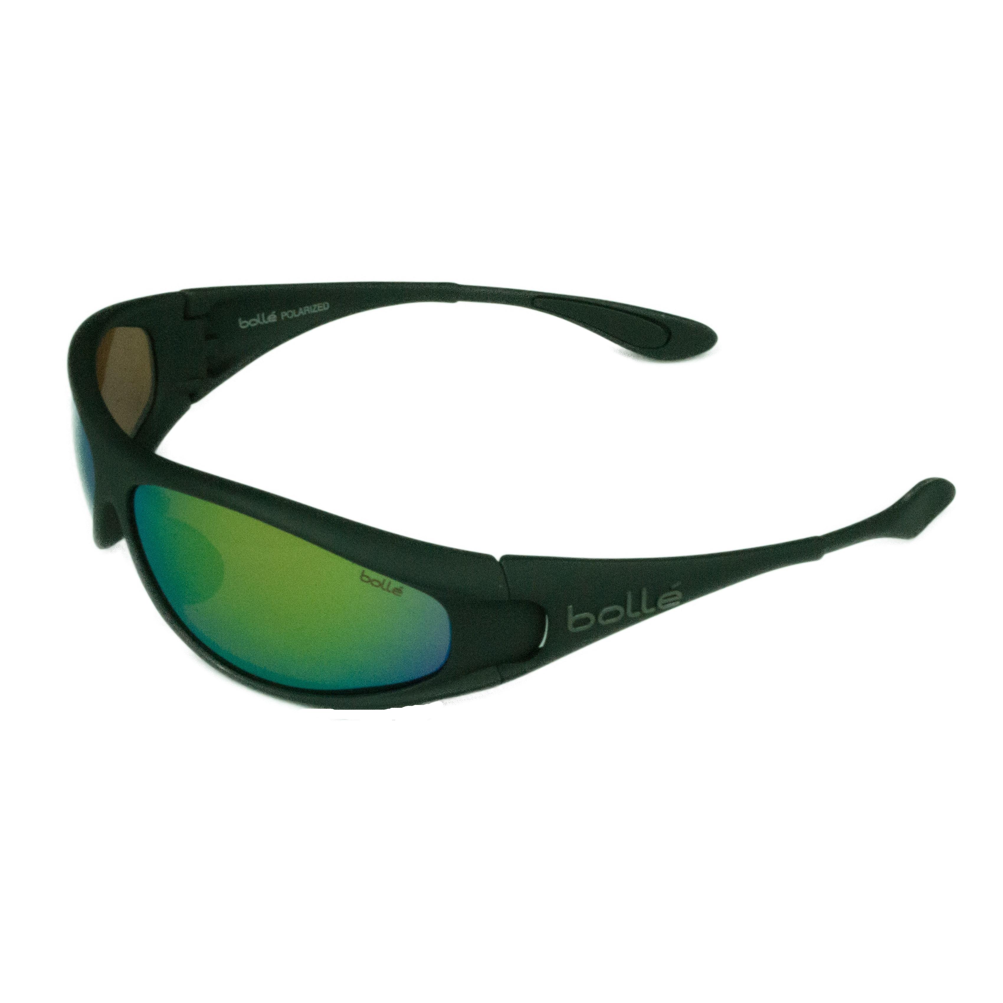 eeba44cb56 Shop Bolle Sport Mens Spiral 11815 Matte Black w  Polarized Brown Emerald  Lens Sunglasses - Free Shipping Today - Overstock - 18238382