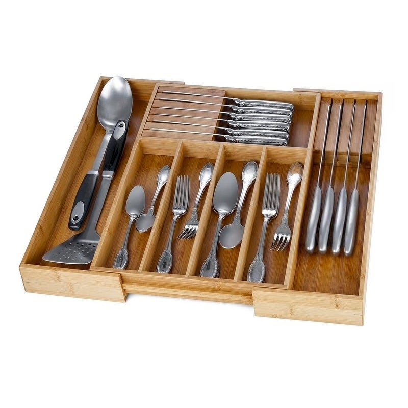 drawer silverware starter utensil holders kit s kt large kitchen trays after rgb organizer steps the bamboo organizers