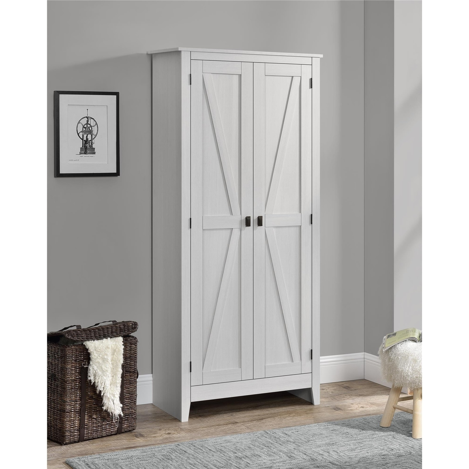 Shop The Gray Barn Latigo Brown 31 5 Inch Storage Cabinet Free