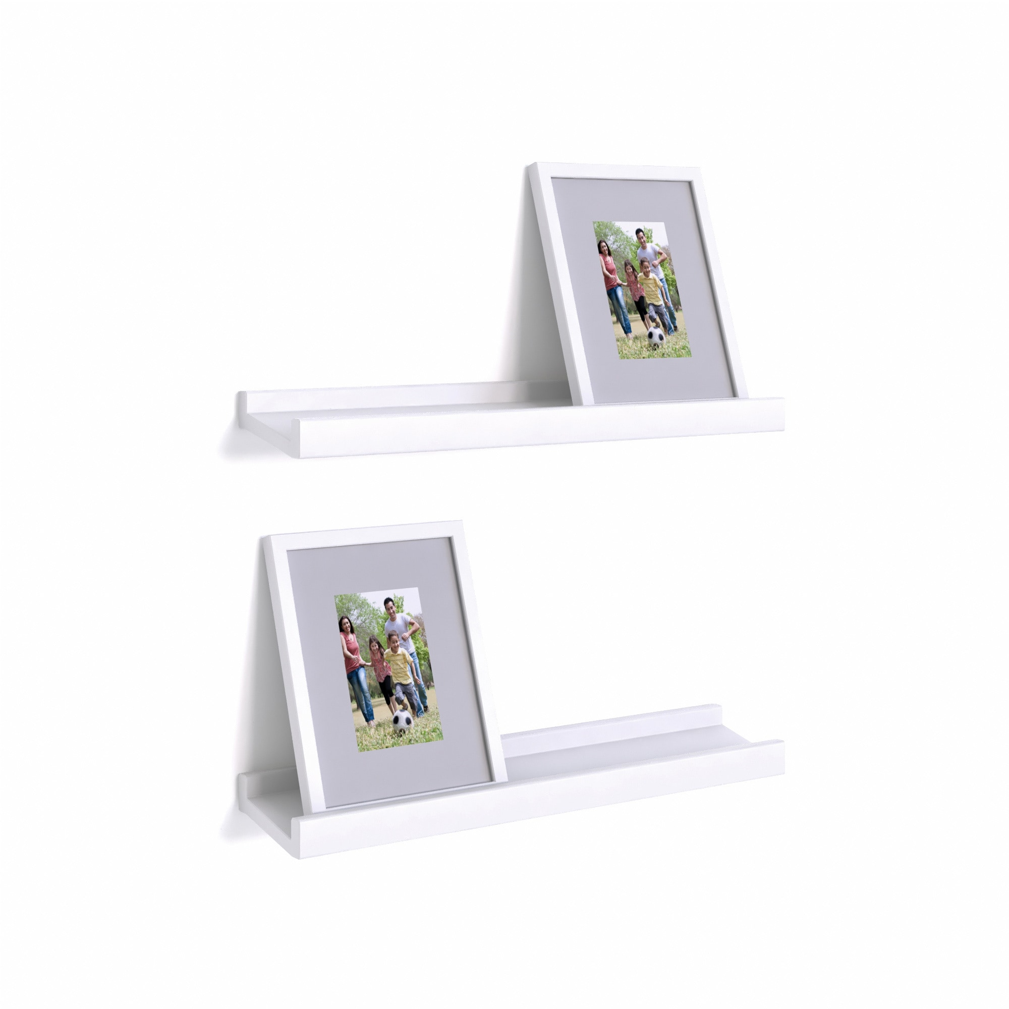 Shop Porch & Den Montclair Vera White Ledge Shelves with Photo ...