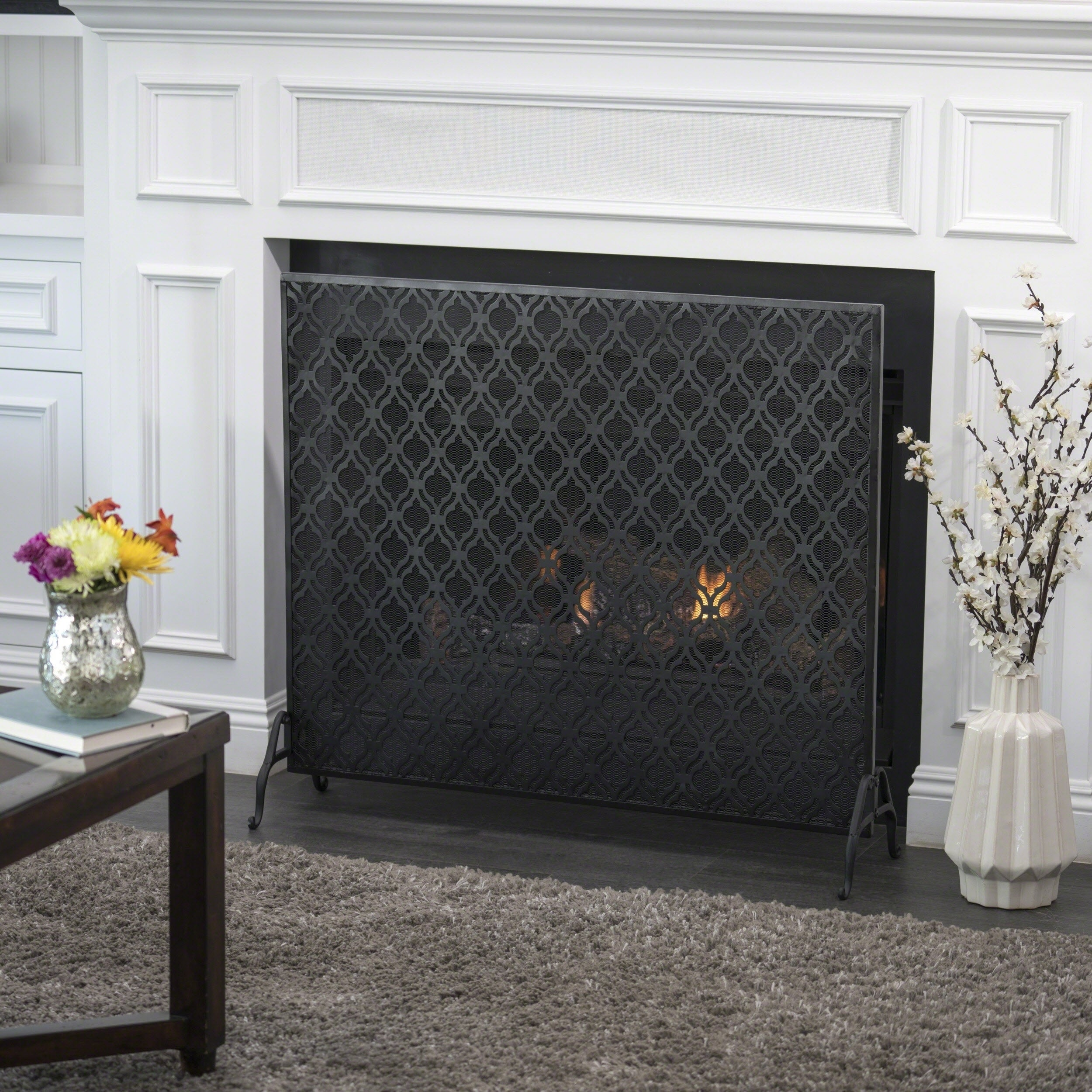 Ellias Single Panel Fireplace Screen By Christopher Knight Home On Sale Overstock 18242168