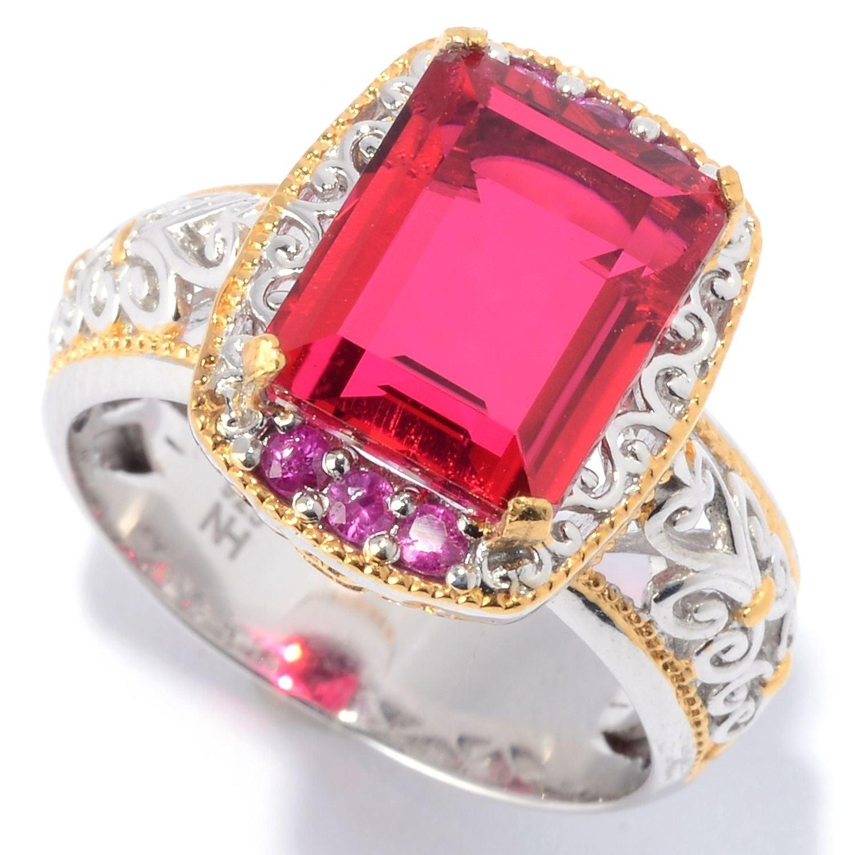 Michael Valitutti Palladium Silver Ruby Red Color Quartz Doublet ...