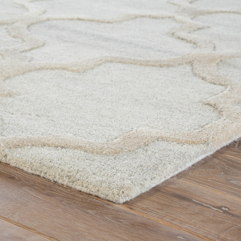 Juniper Home Portland Grey Cream Wool Viscose Handmade Trellis Area Rug 9 X 13 Free Shipping Today 24384862