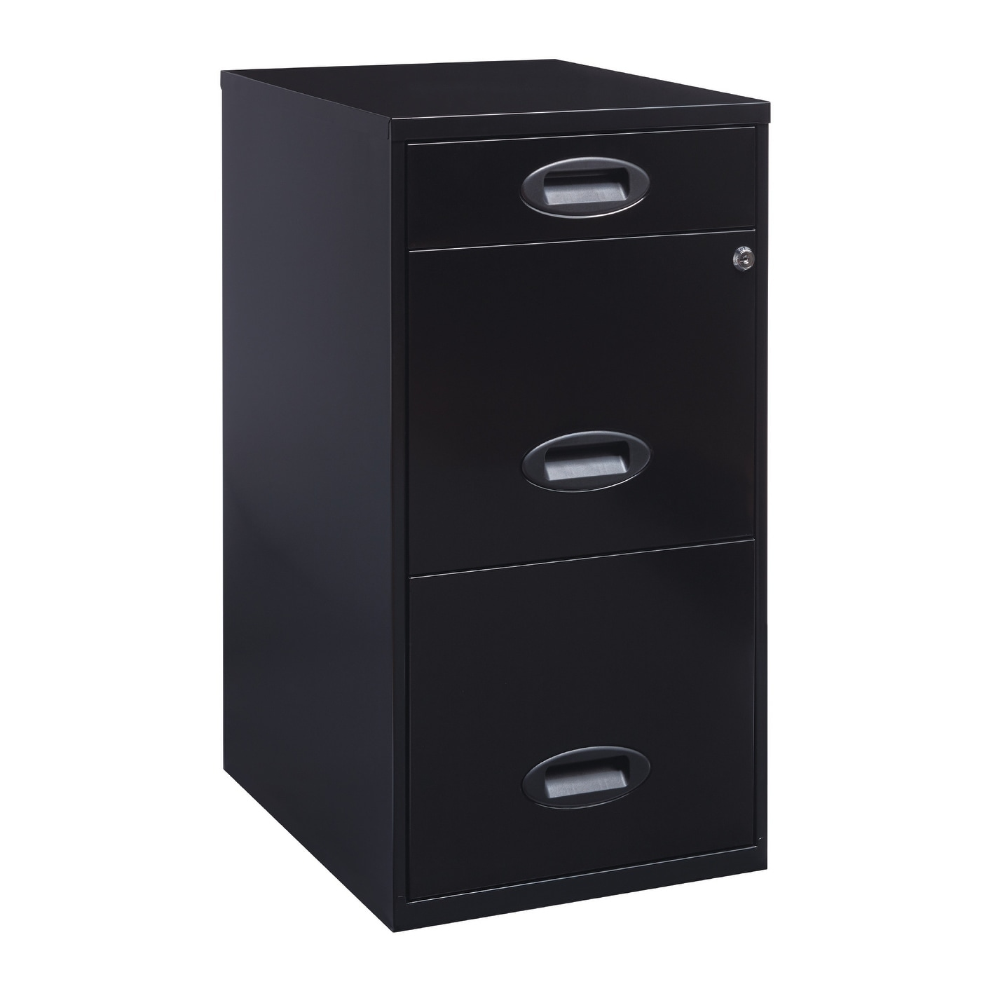 Shop Space Solutions 18  Deep 3-drawer Metal Organizer File Cabinet Black - Free Shipping Today - Overstock.com - 18252613  sc 1 st  Overstock.com & Shop Space Solutions 18