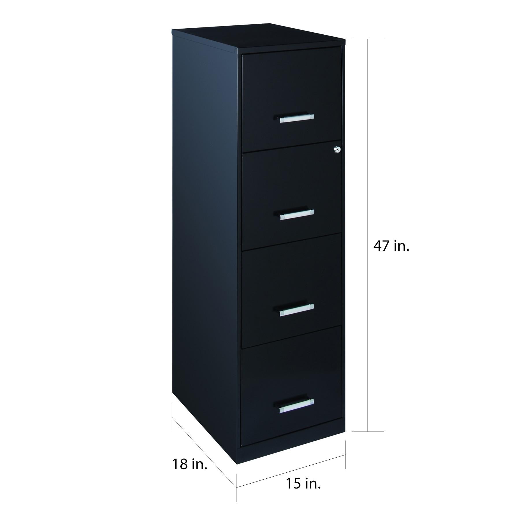 18 4 Drawer Metal File Cabinet Black Free Shipping Today 18252621