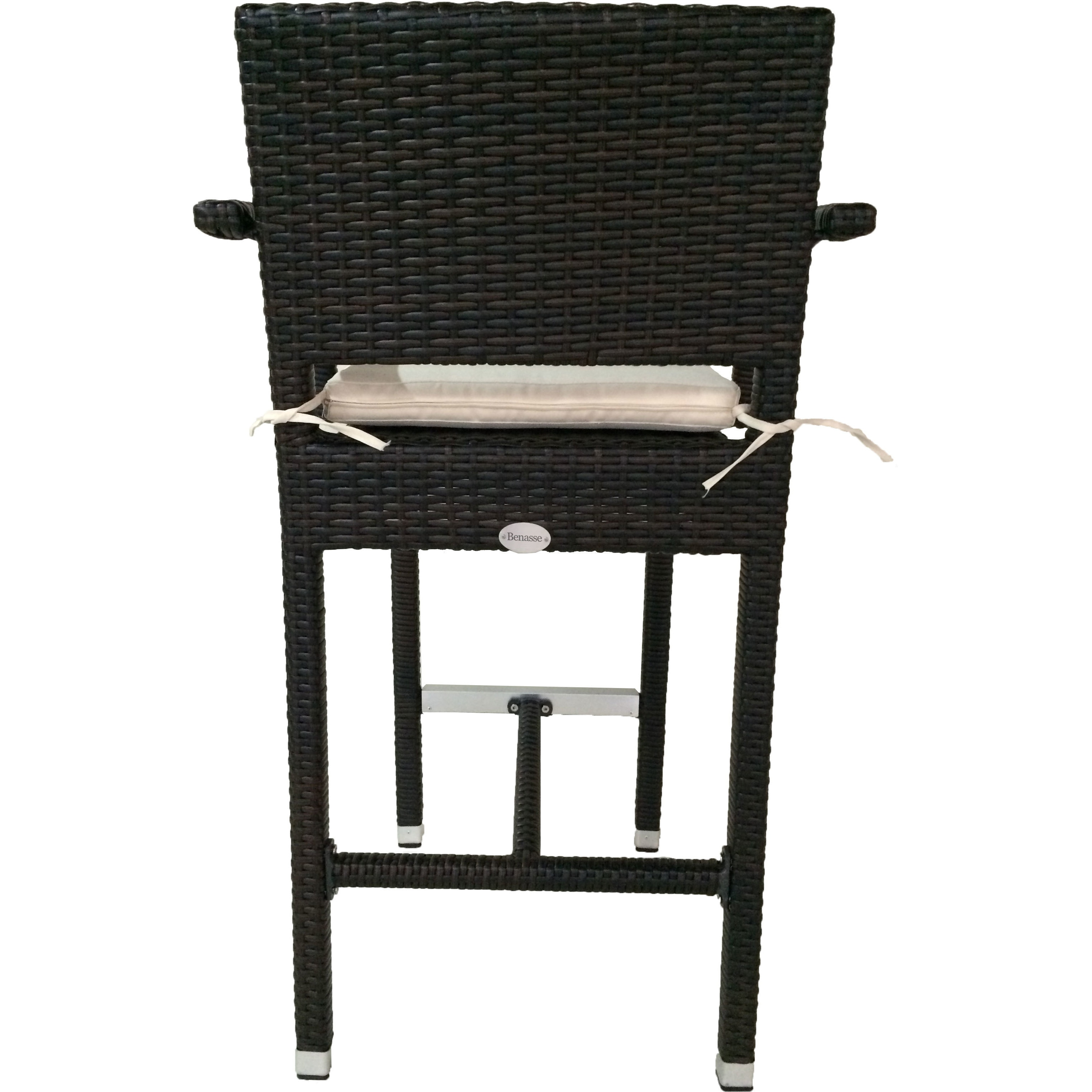 Superb Shop Laura Benasse SunFlower Wicker Patio 30 Inc Bar Stool With Cushion  (Set Of 2)(Espresso)   On Sale   Free Shipping Today   Overstock.com    18258810