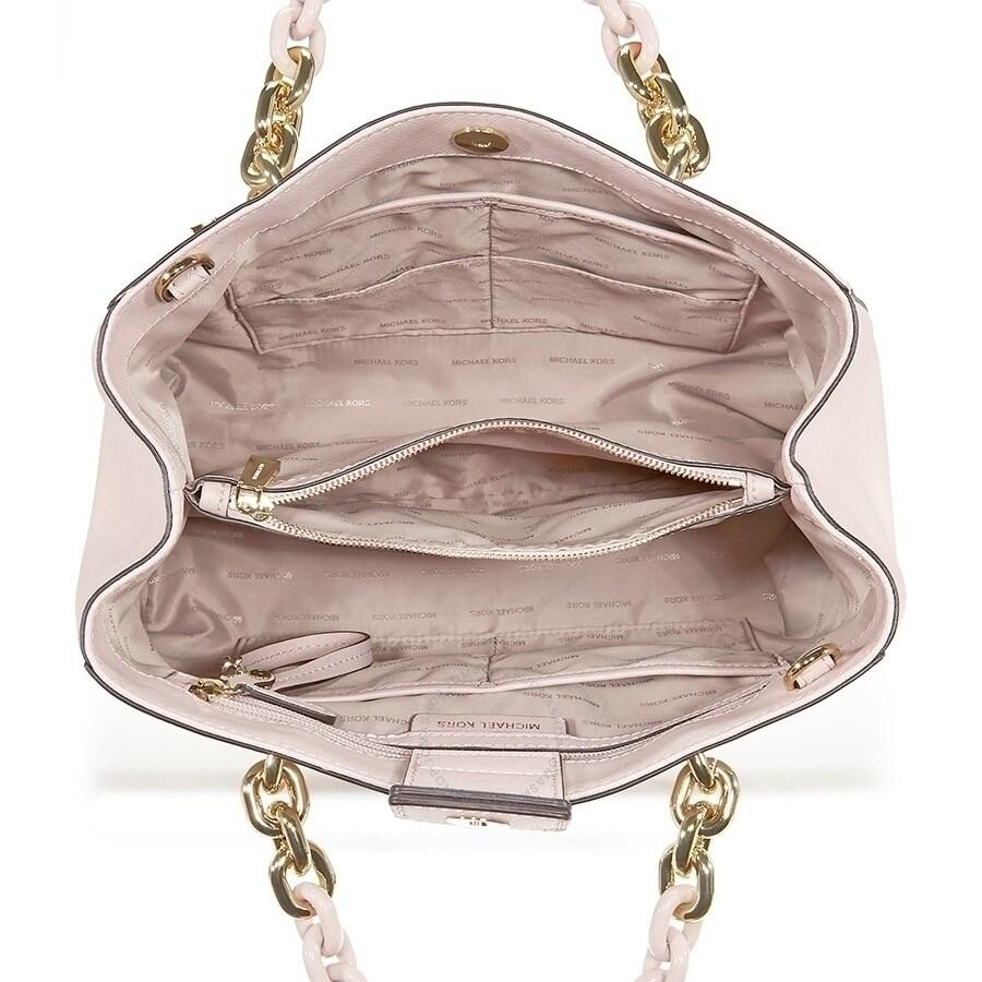 7e3434a85128 Shop MICHAEL Michael Kors Cynthia Medium Convertible Satchel Soft Pink -  Free Shipping Today - Overstock - 18266257