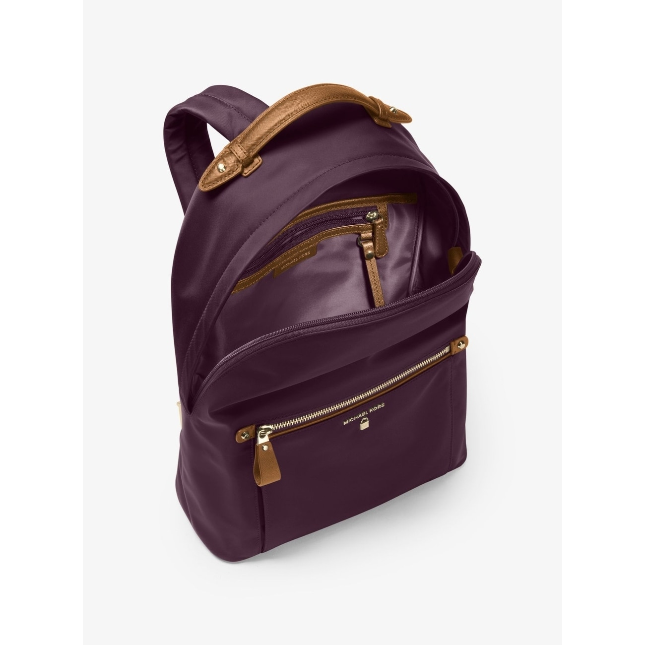 bf03c16a673c Shop MICHAEL Michael Kors Kelsey Large Backpack Damson - Free Shipping  Today - Overstock - 18266299
