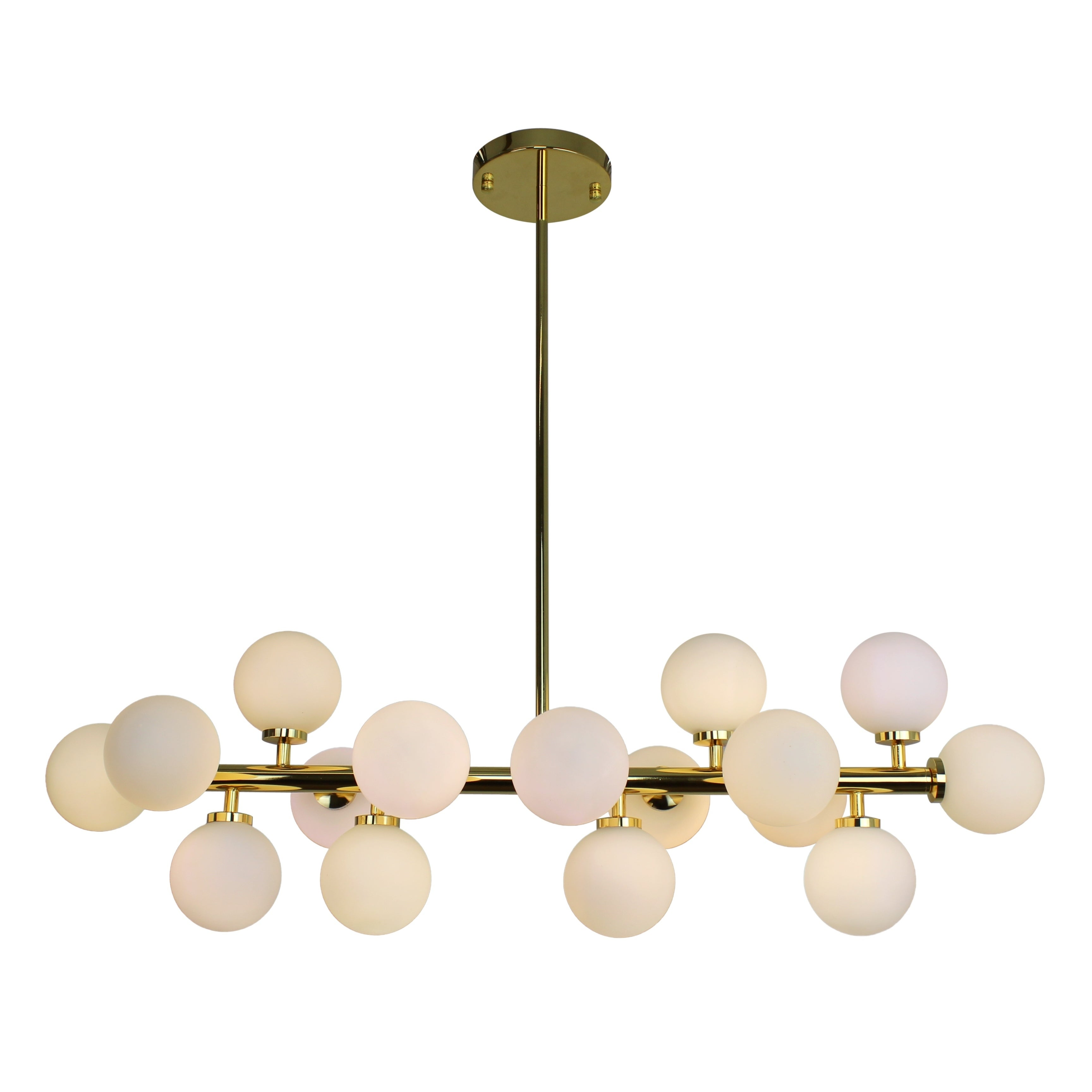 The broadway brass and frosted glass globe rectangular chandelier the broadway brass and frosted glass globe rectangular chandelier free shipping today overstock 24401768 arubaitofo Image collections