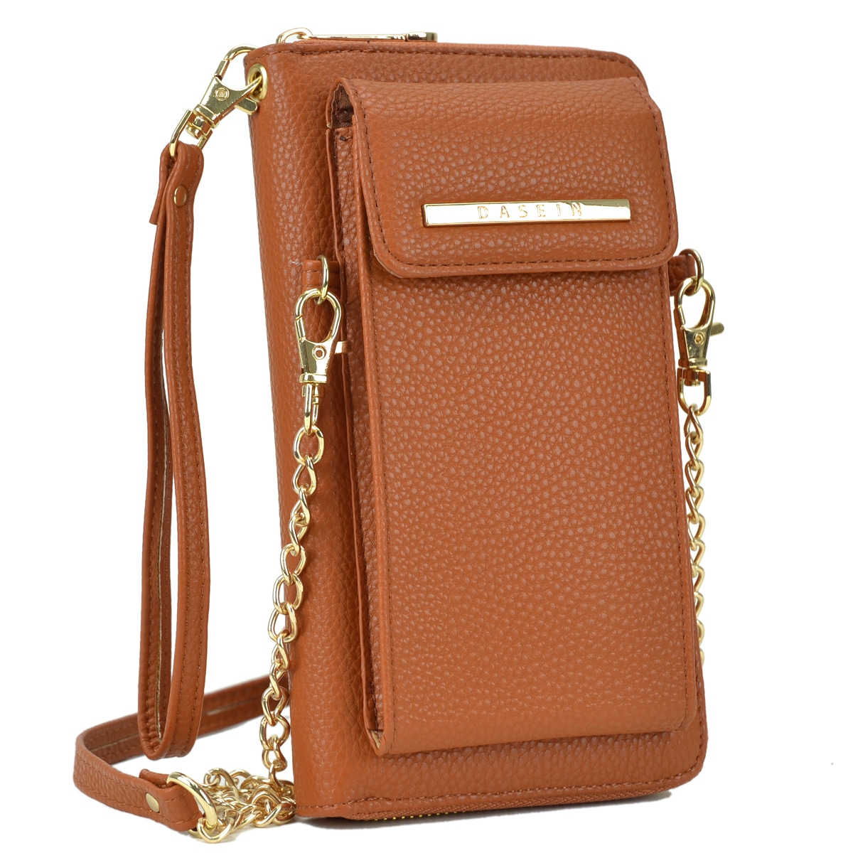 90a7398d8fc Shop Dasein Faux Leather Organizer Crossbody Bag w/ Detachable Chain Strap  - On Sale - Free Shipping On Orders Over $45 - Overstock - 18267040