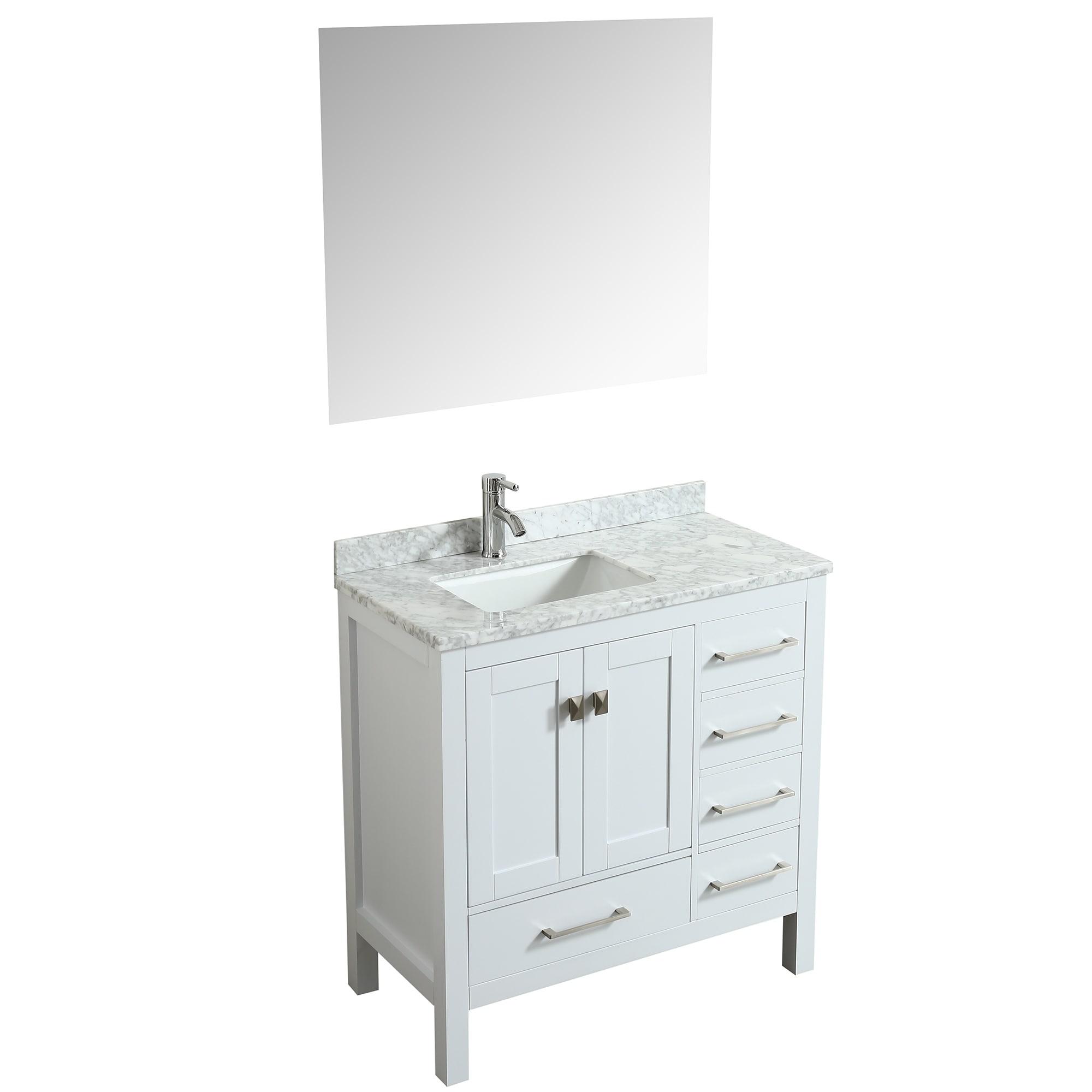 Shop eviva london 36 white bathroom vanity free shipping today overstock com 18269271