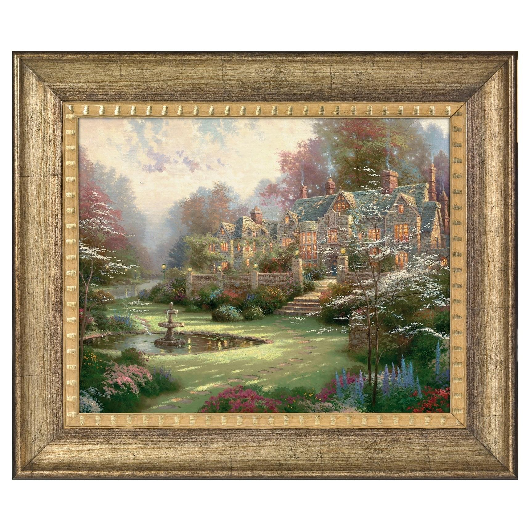 d6ffe630b4d Shop Thomas Kinkade Gardens Beyond Spring Gate 16 x 20 Brushstroke Vignette  - Free Shipping Today - Overstock - 18271778