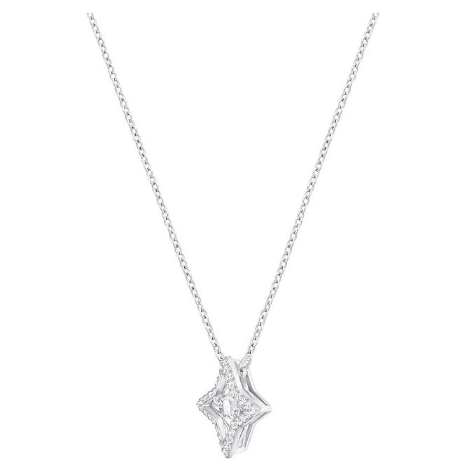 cdf7a90c30a658 Shop Swarovski Sparkling Dance Star Pendant - Small - White - Rhodium  Plating - 5349654 - Free Shipping Today - Overstock - 18272228