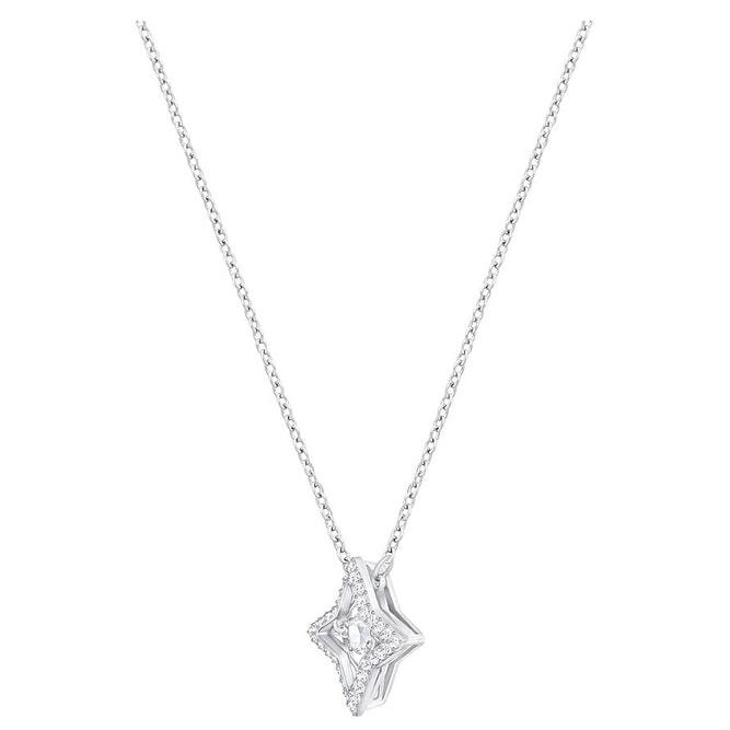 52d78b0969de0 Swarovski Sparkling Dance Star Pendant - Small - White - Rhodium Plating -  5349654