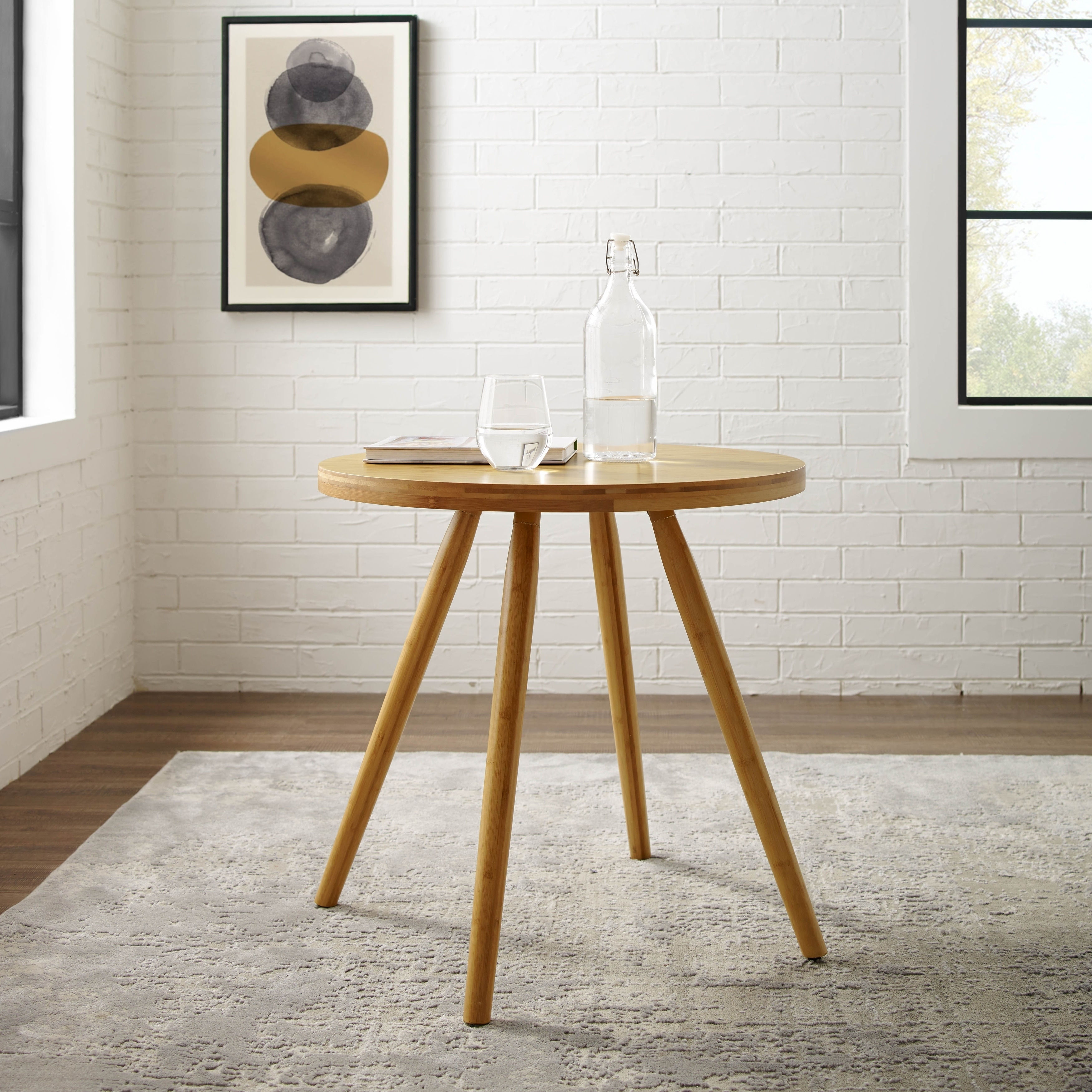 Shop Corvus Lille Mid Century Bamboo End Table   On Sale   Free Shipping  Today   Overstock.com   18272659