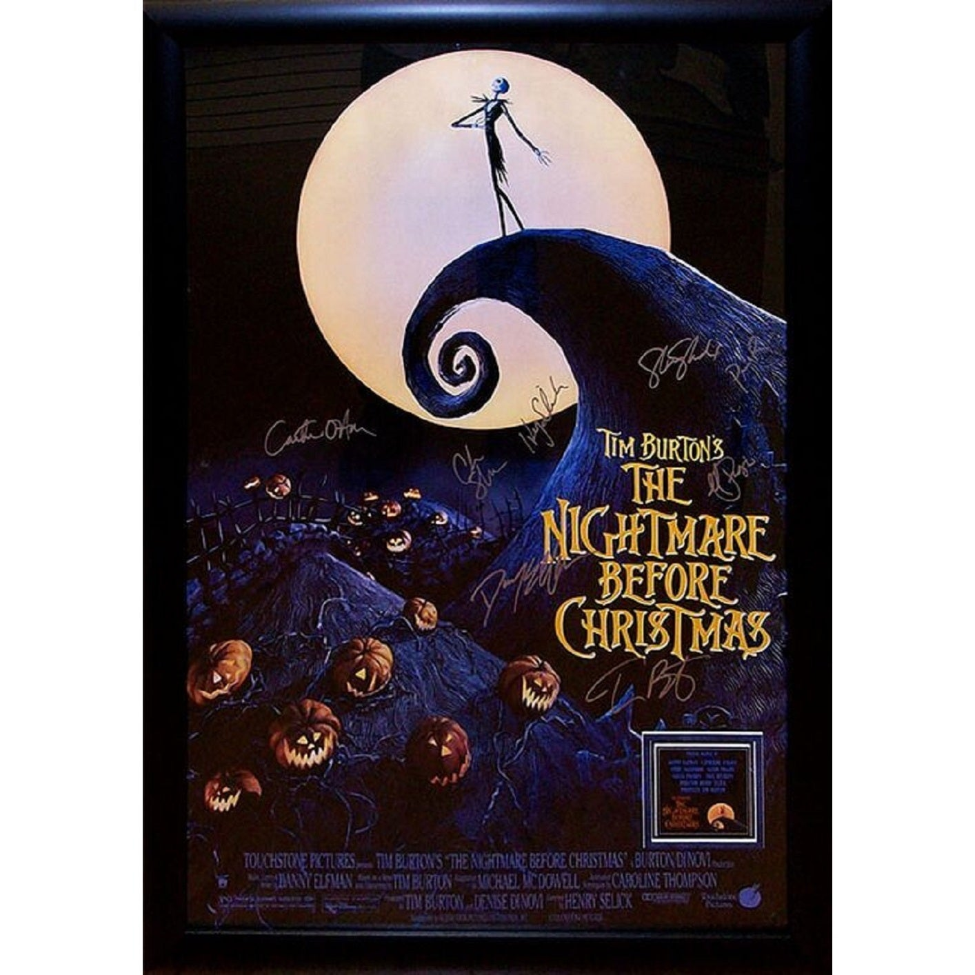 Shop The Nightmare Before Christmas - Signed Movie Poster - On Sale ...