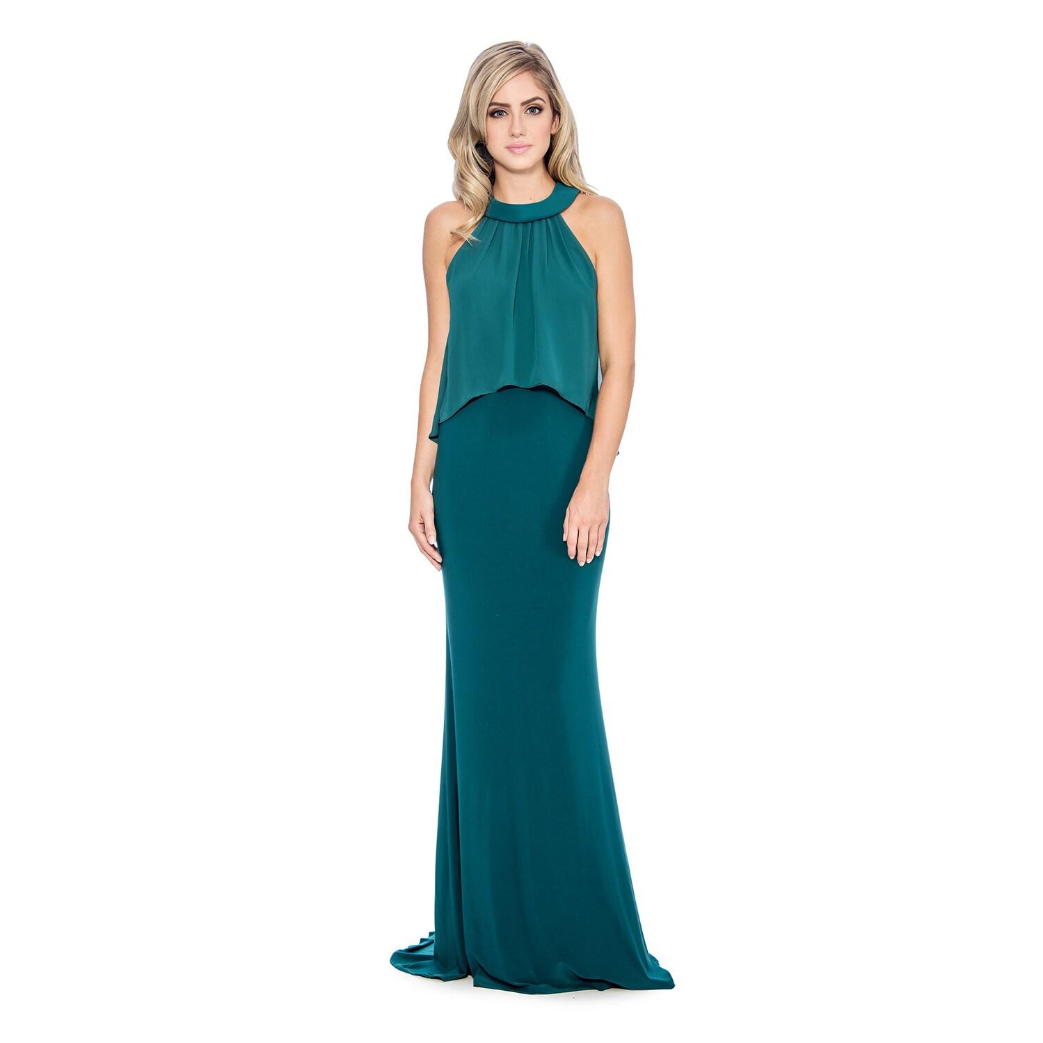 Shop Decode 1.8 Women\'s Draped Mock 2-piece Evening Dress - Free ...