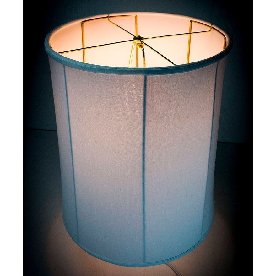 15x16x19 Collapsible Drum White Linen Lampshade (Folds for easy moving and  storage) - Free Shipping Today - Overstock.com - 24528435