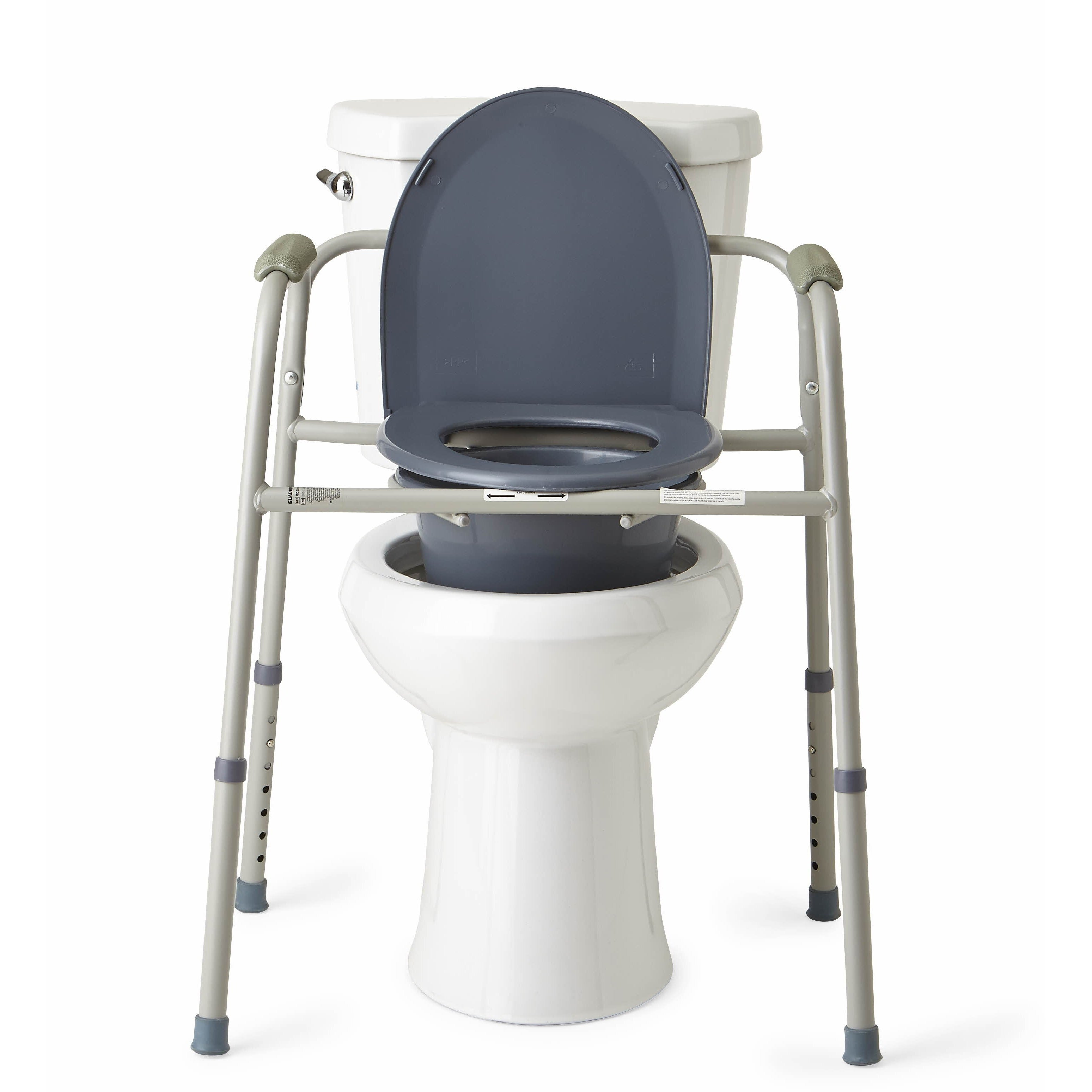 Medline Deluxe 3-in-1 Steel Frame Multifunction Commode - Free ...