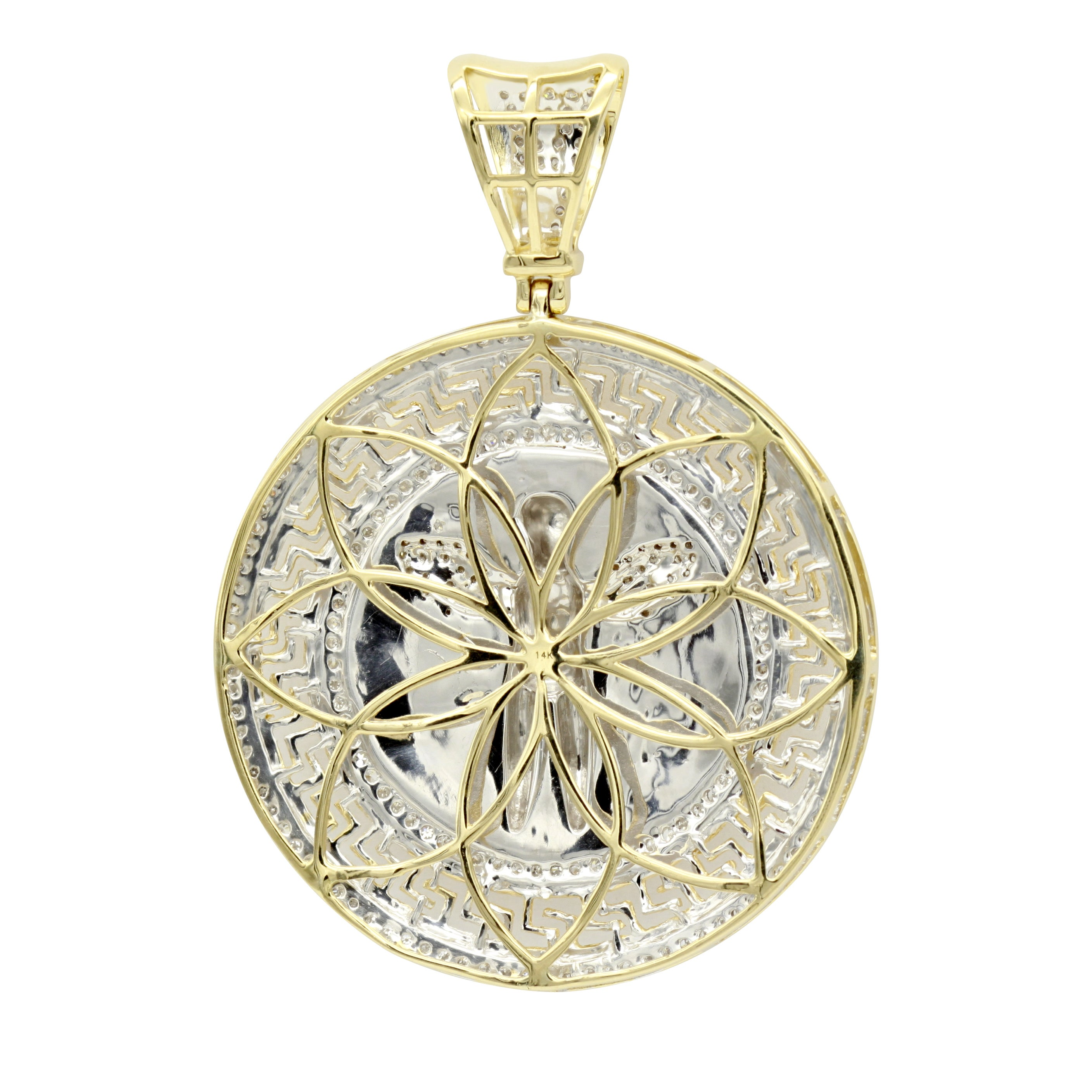 in diamond ct gold medallion itm pendant sterling natural silver and onyx