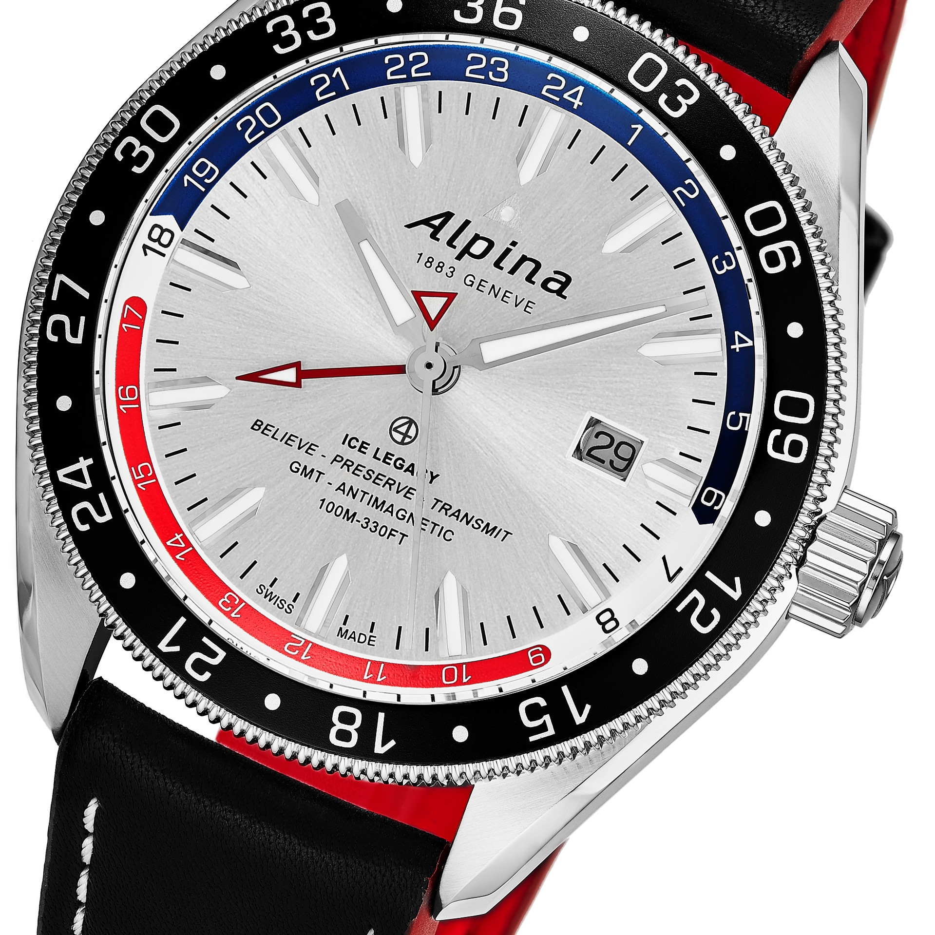 Shop Alpina Mens ALSRNAQ Alpiner GMT Business Silver Dial - Alpina gmt