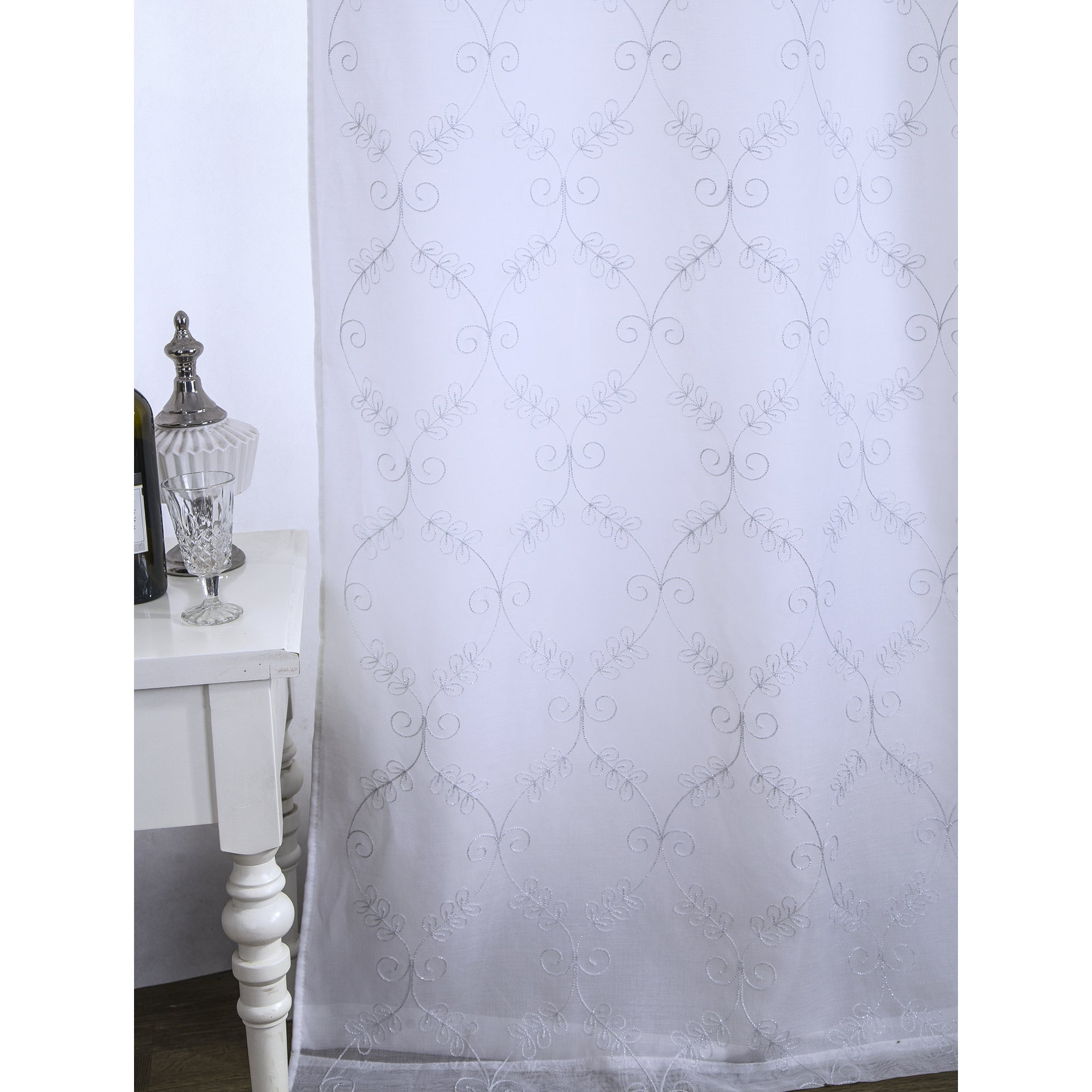 RT Designers Collection Juliet Embroidered 90 in. Lined Grommet ...