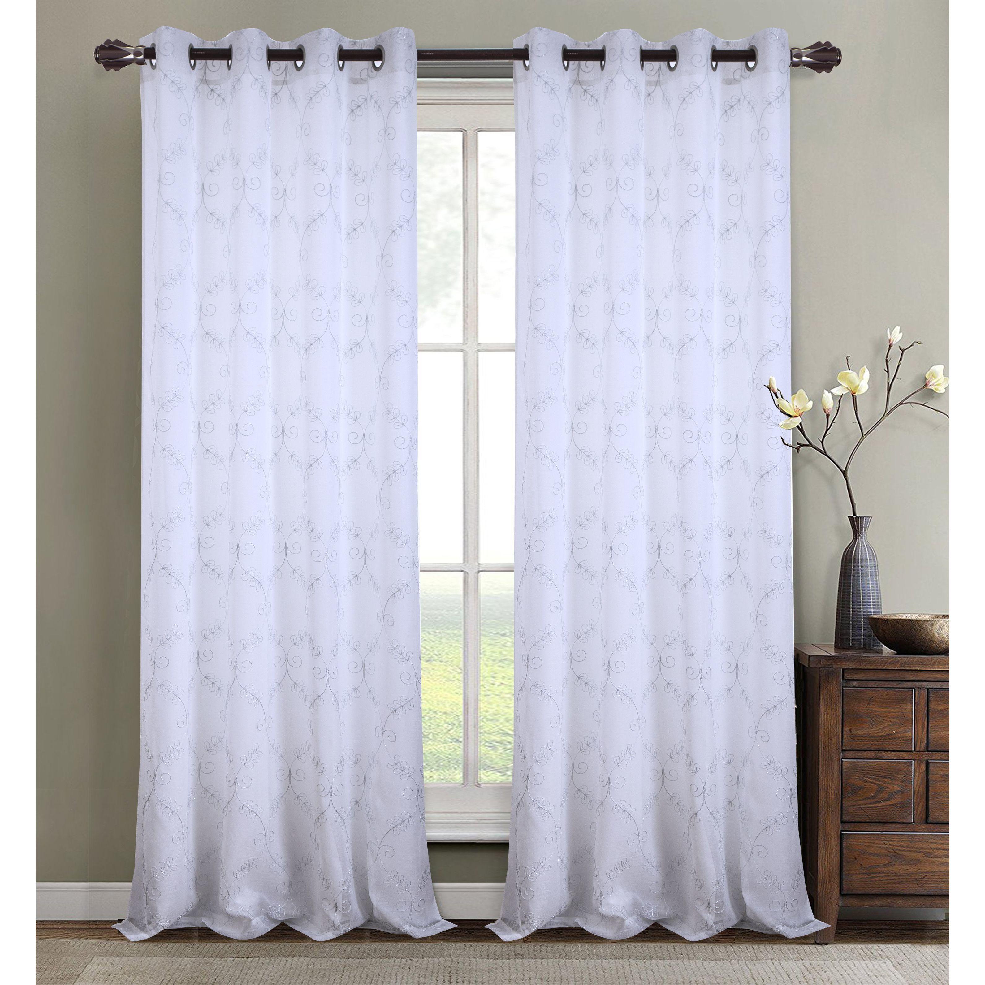window sheer treatments elements valance curtain geometric wayfair pdp ca reviews grommet lattice panels