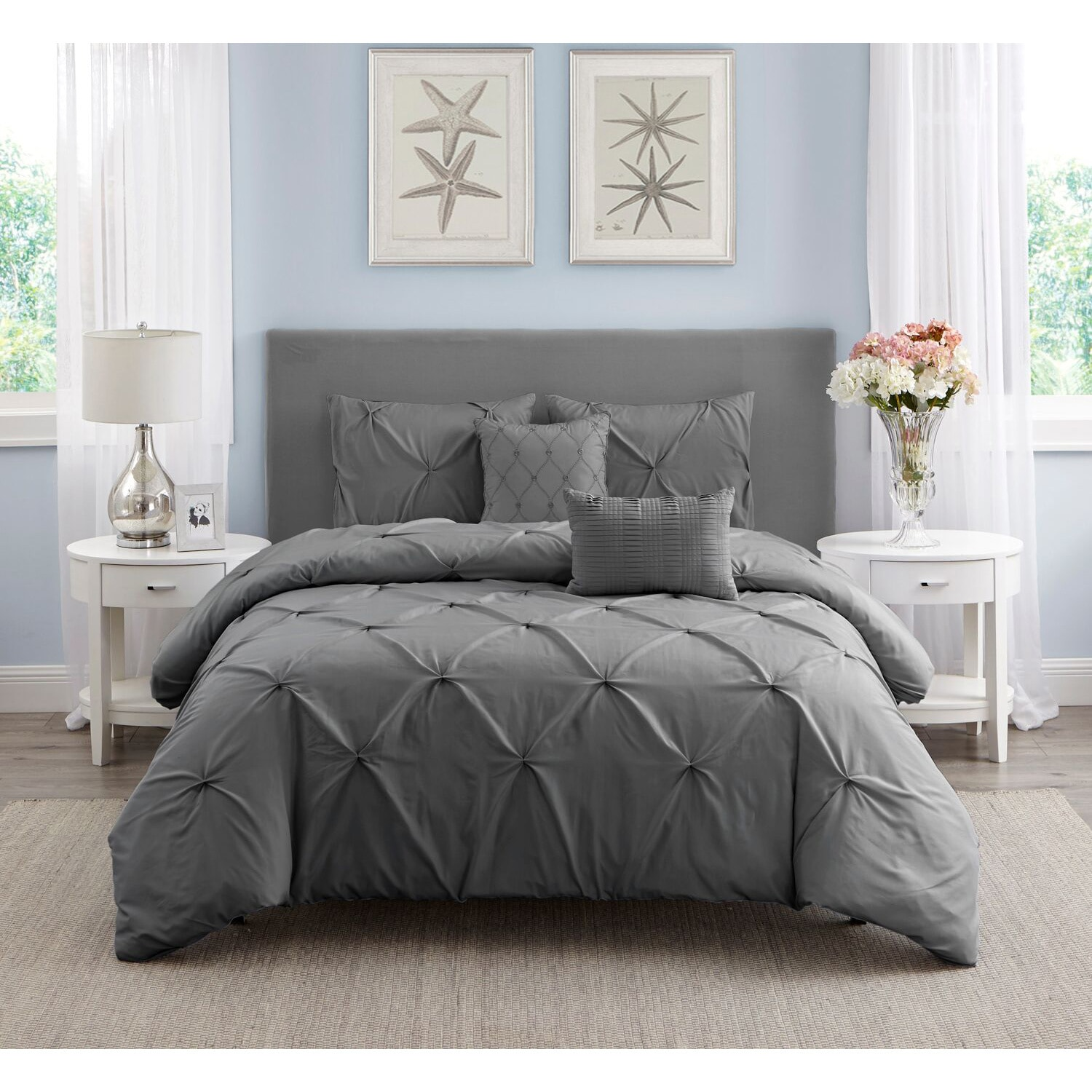 reviravoltta queen pintuck com cover pleated solutions with savannah tufted bedroom duvet headboard collection white of