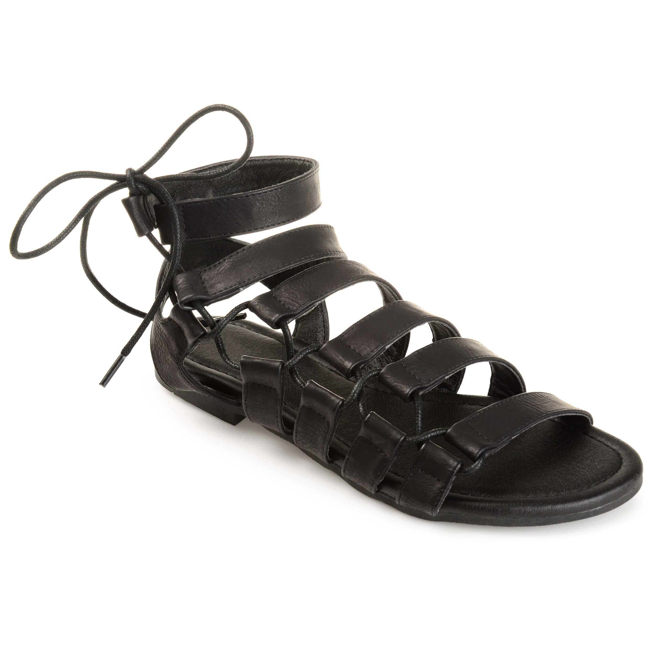 ee3a3cd2f7a Shop Journee Collection Women s  Cleo  Strappy Caged Gladiator Sandals - On  Sale - Ships To Canada - Overstock.ca - 18515267