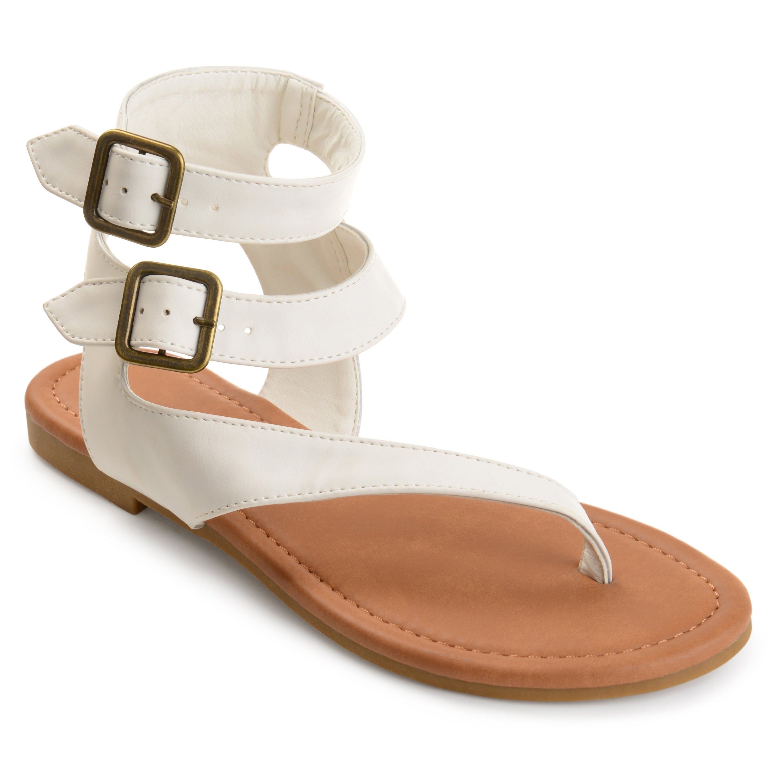 4a8f02abb9117 Shop Journee Collection Women s  Kyle  Double Wrap Buckle Thong Sandals -  On Sale - Free Shipping On Orders Over  45 - Overstock - 18515269