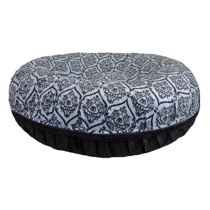 0829693d4334 Shop Bessie and Barnie Signature Black Puma  Versailles Blue Luxury Extra  Plush Faux Fur Bagel Pet   Dog Bed - Free Shipping Today - Overstock.com -  ...