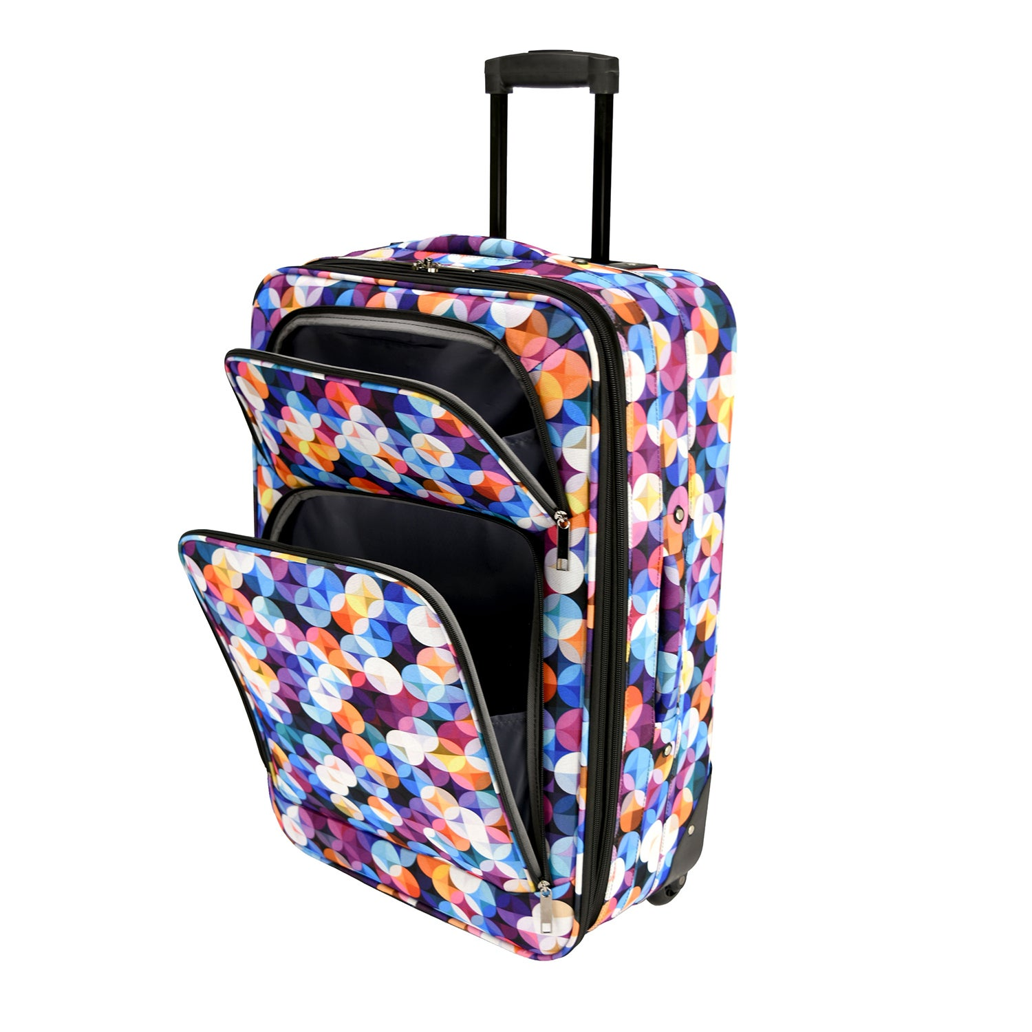 Shop Elite Luggage Gem Bubbles 20 Inch Expandable Softside Carry On Rolling Suitcase