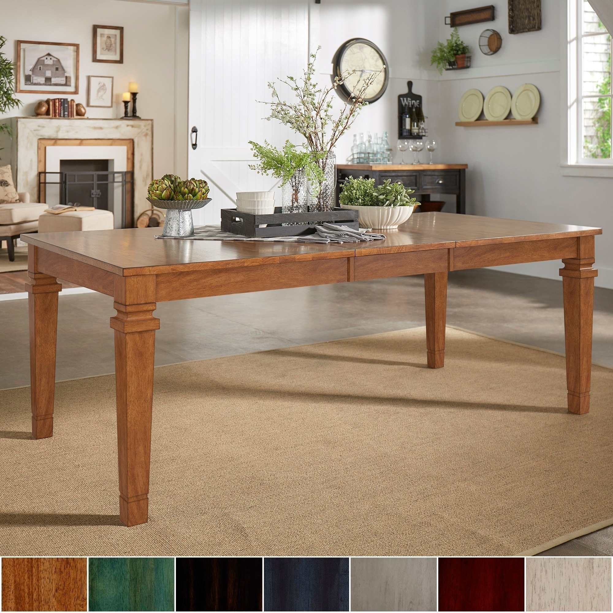 Elena Solid Wood Extendable Rectangular Dining Table By Inspire Q