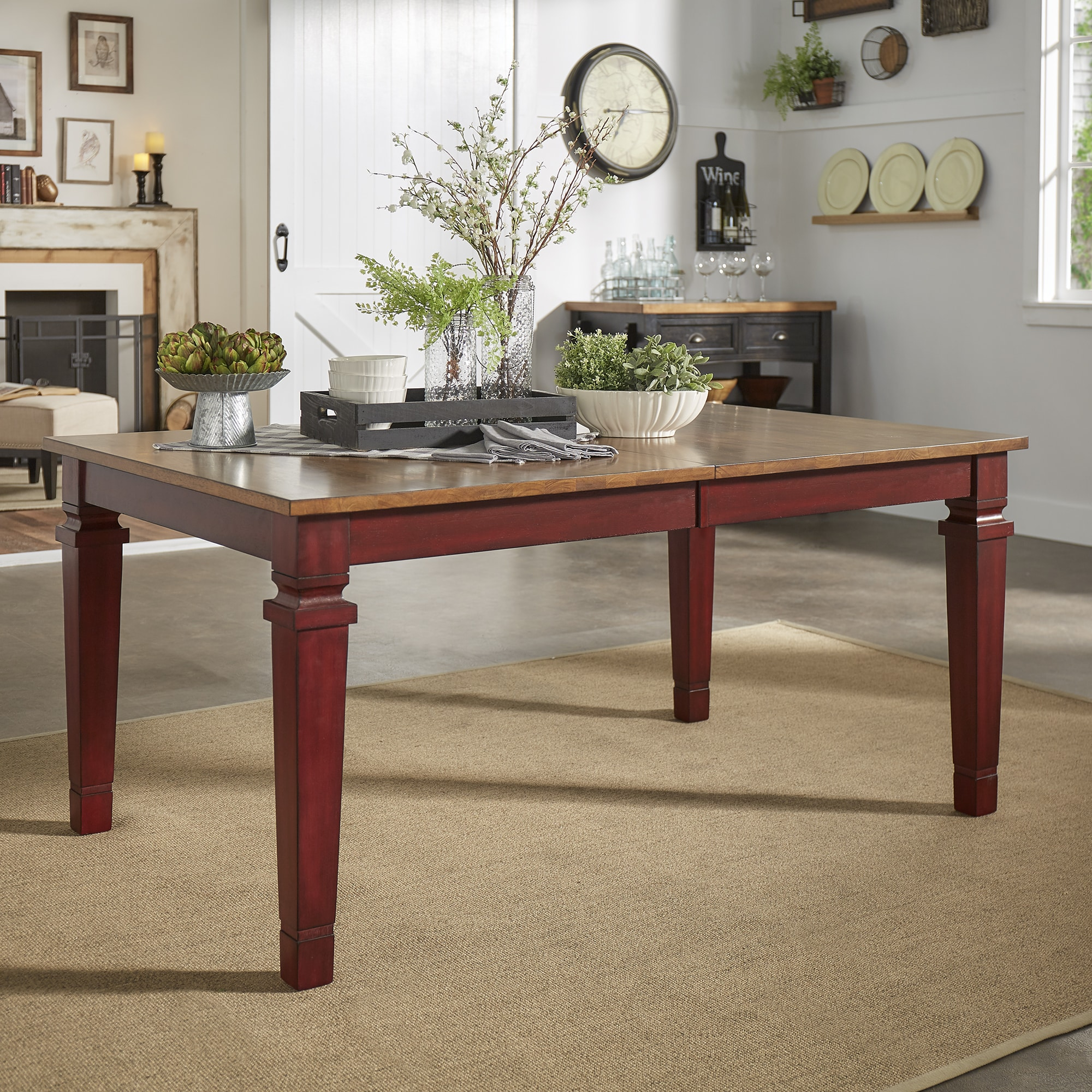 Elena Solid Wood Extendable Rectangular Dining Table From INSPIRE Q Classic