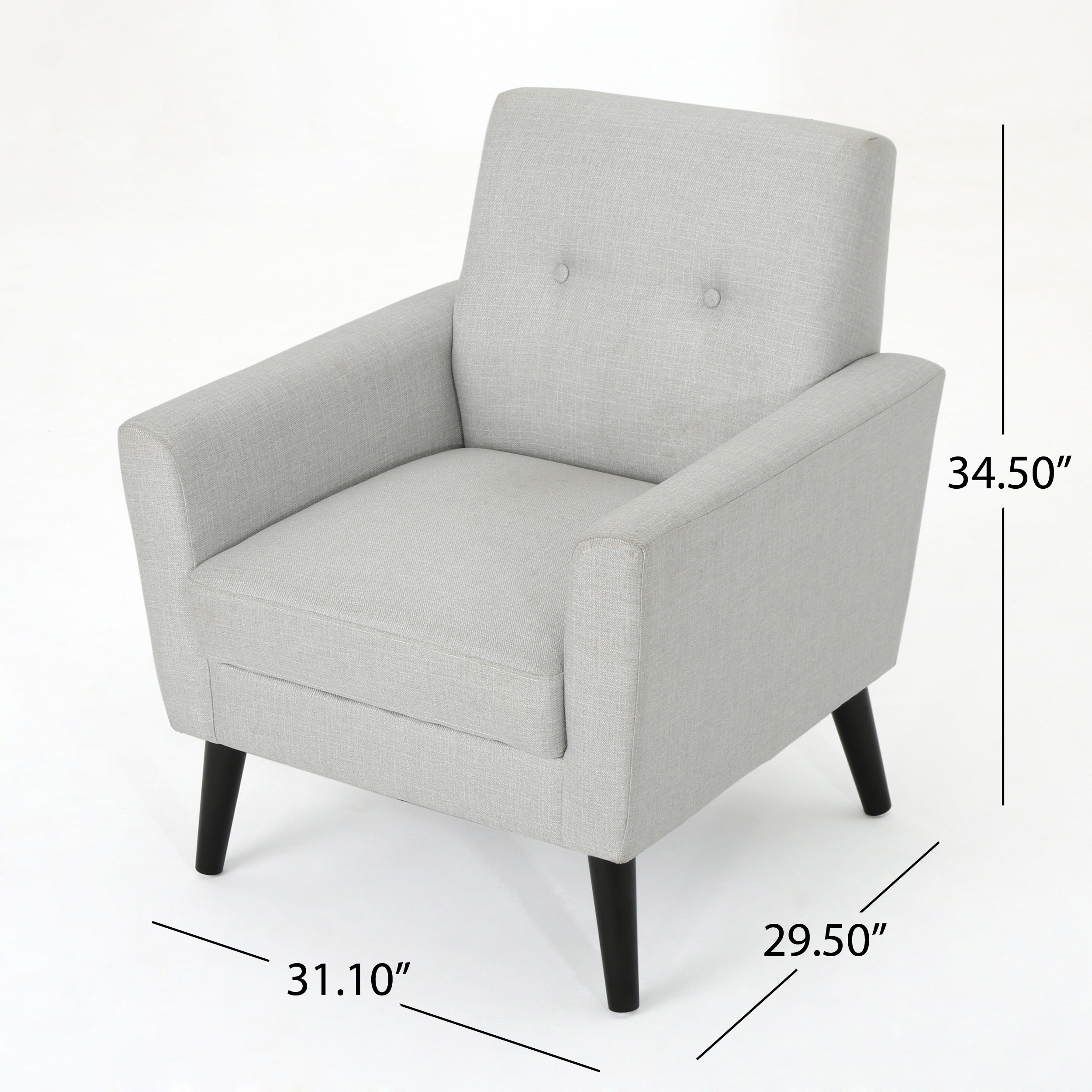 Sienna Mid Century Fabric Club Chair By Christopher Knight Home   Free  Shipping Today   Overstock   24631075
