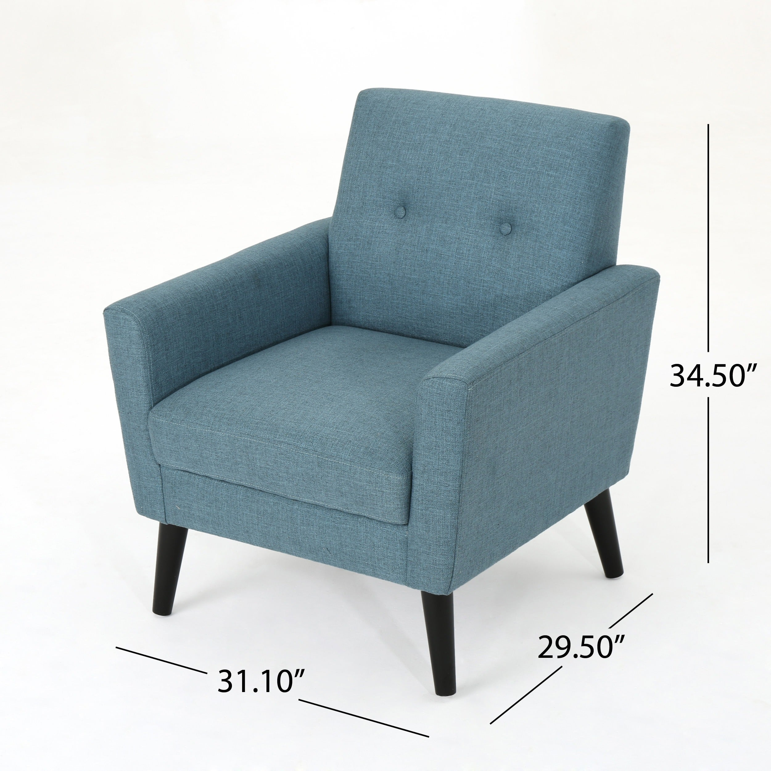 Shop Sienna Mid Century Fabric Club Chair by Christopher Knight Home ...