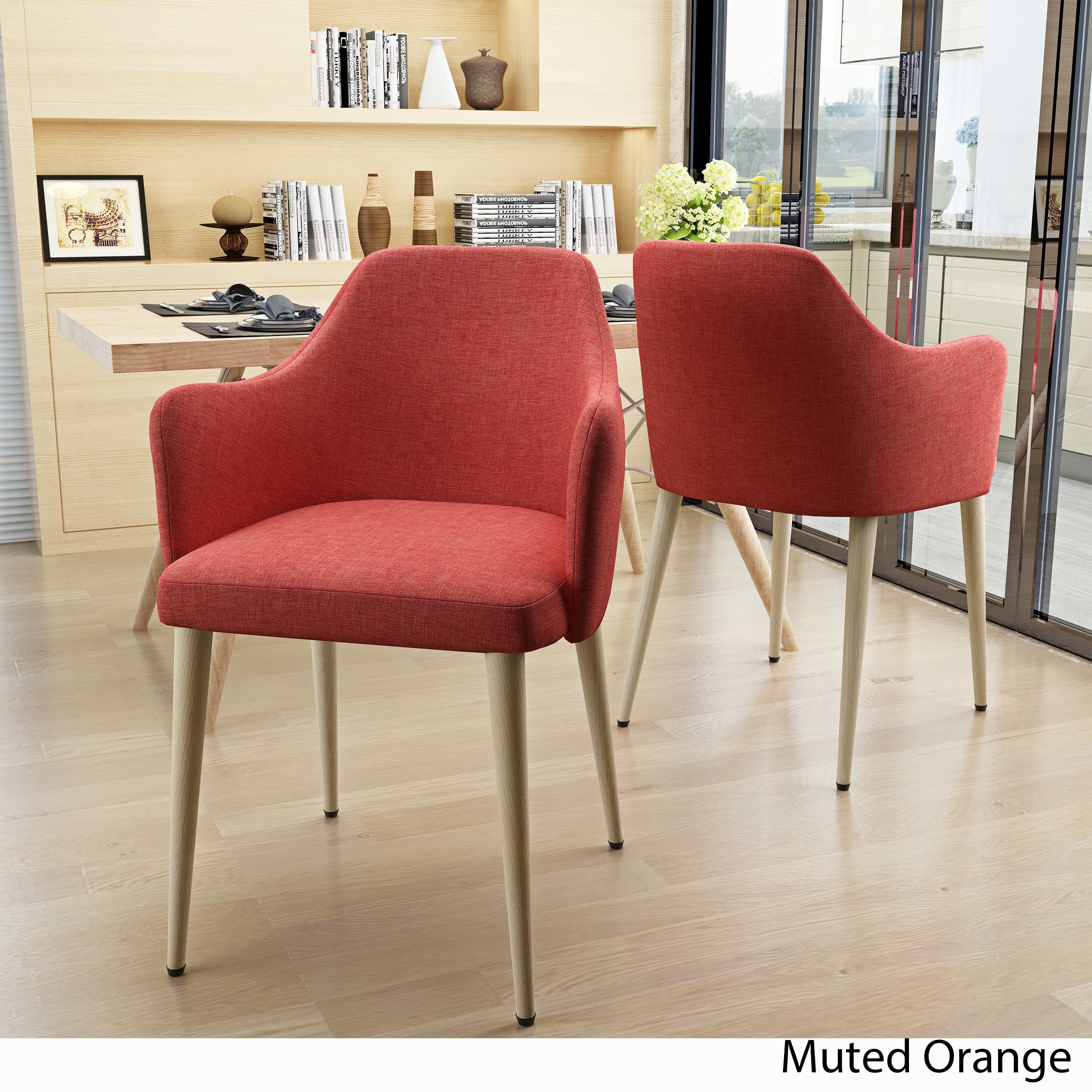 Shop Nadya Mid Century Fabric Dining Chair (Set Of 2) By Christopher Knight  Home   Free Shipping Today   Overstock.com   18521687