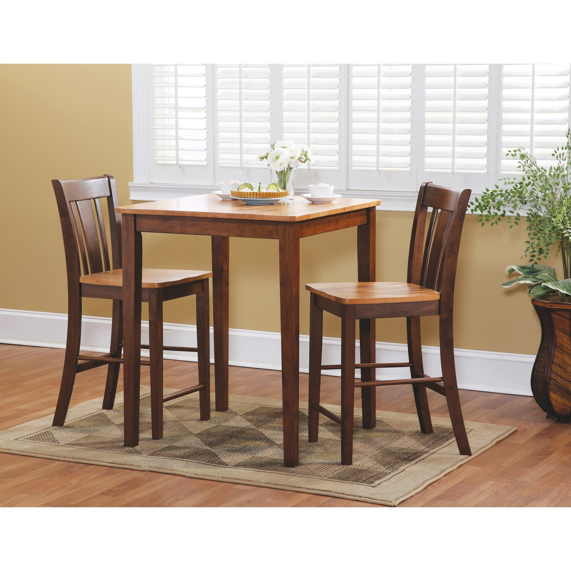 Shop International Concepts X Counter Height Dining Table - Counter height dining table with stools
