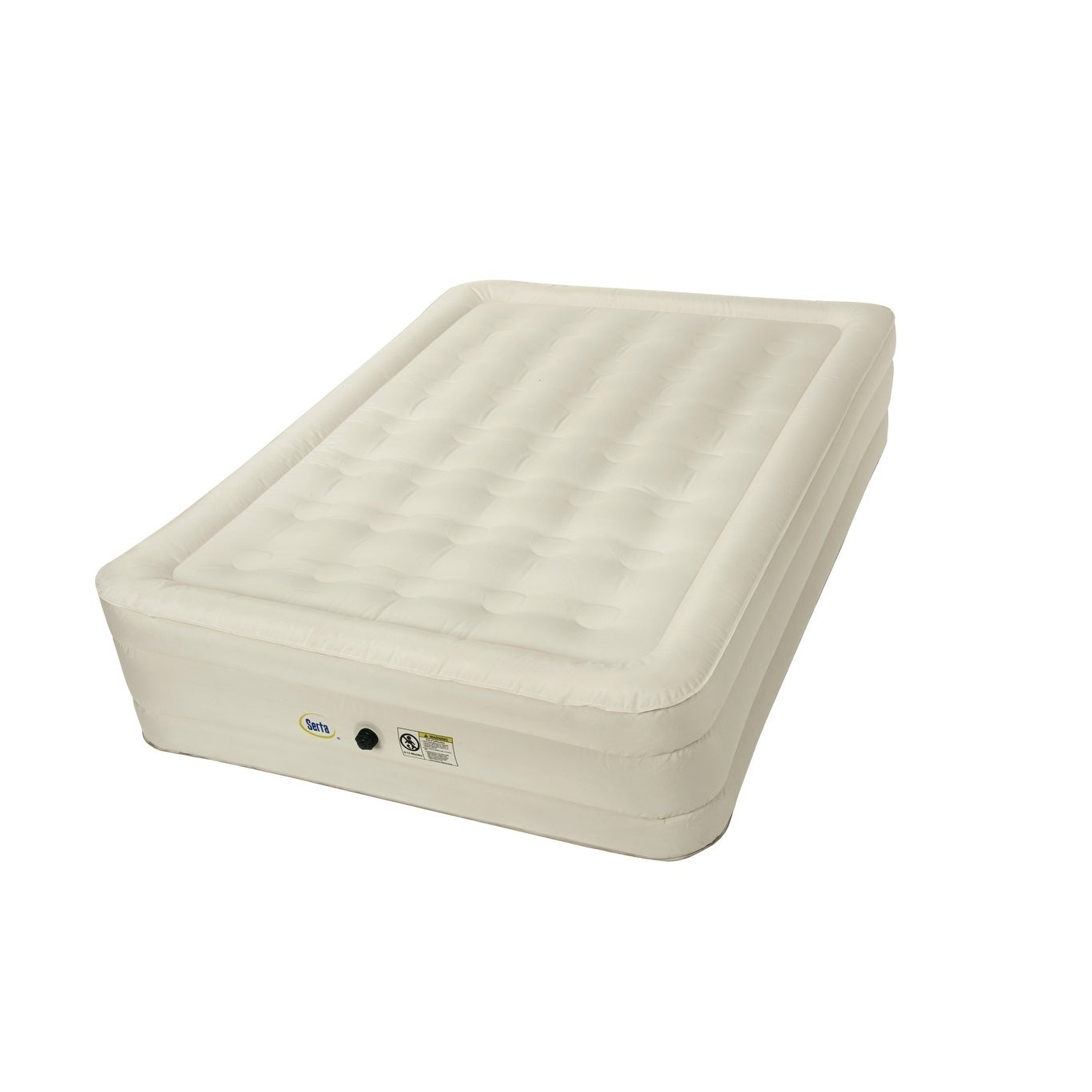 Shop Serta 14 Inch Queen Size Airbed With Neverflat Fabric