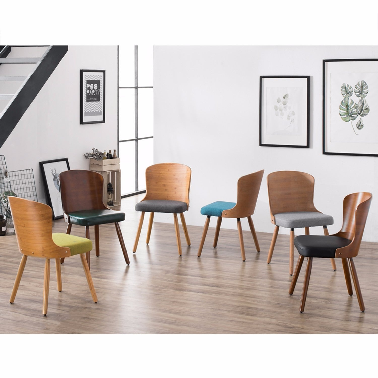 Corvus Calvados Mid-Century Modern Bamboo Dining Chair (Set of 2 ...