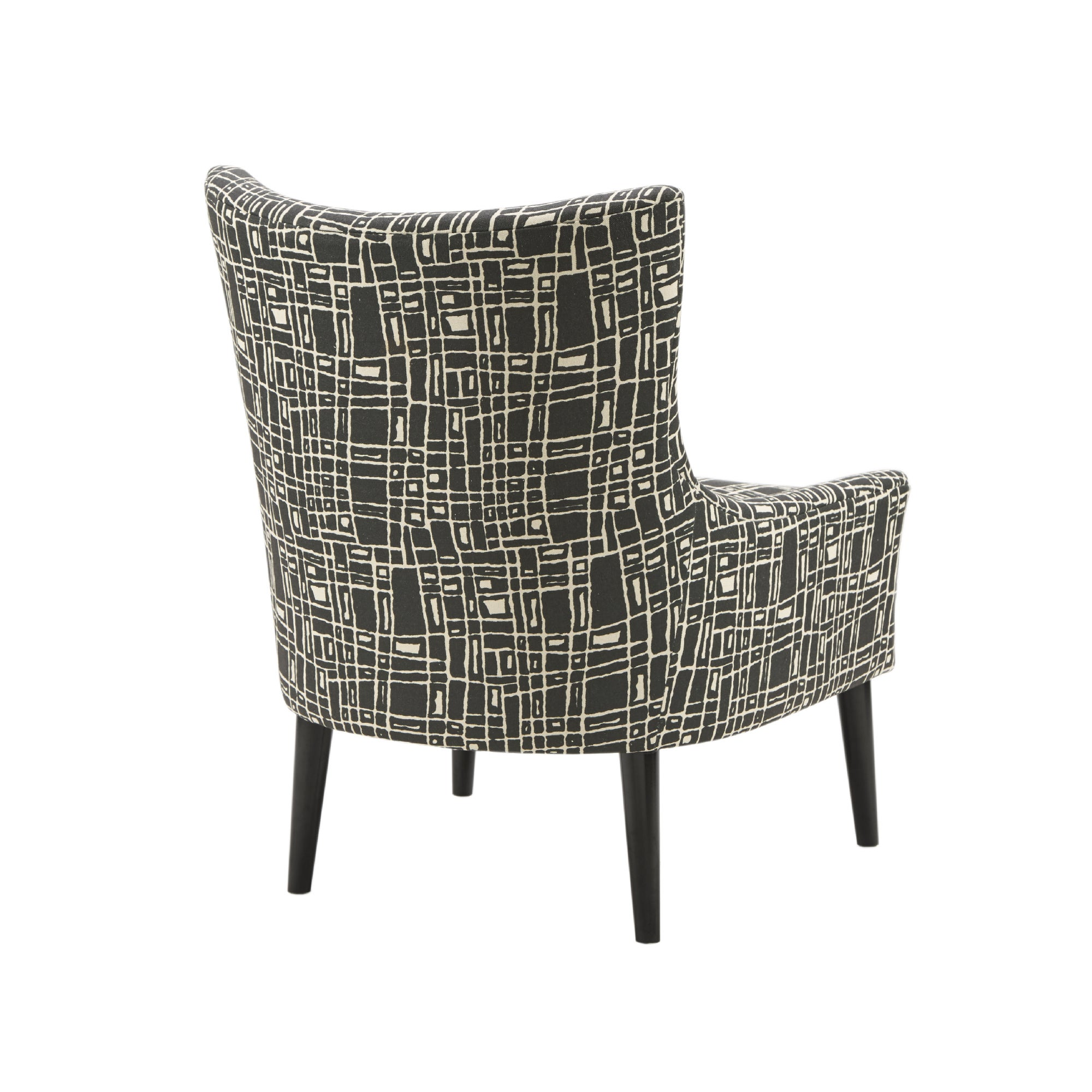 Madison Park Roth Black Wood Accent Chair   Free Shipping Today    Overstock.com   24634913
